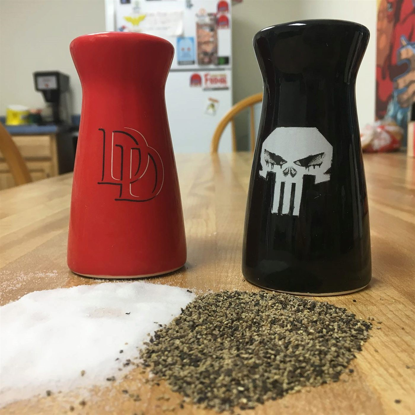 Daredevil and Punisher Salt & Pepper Shakers