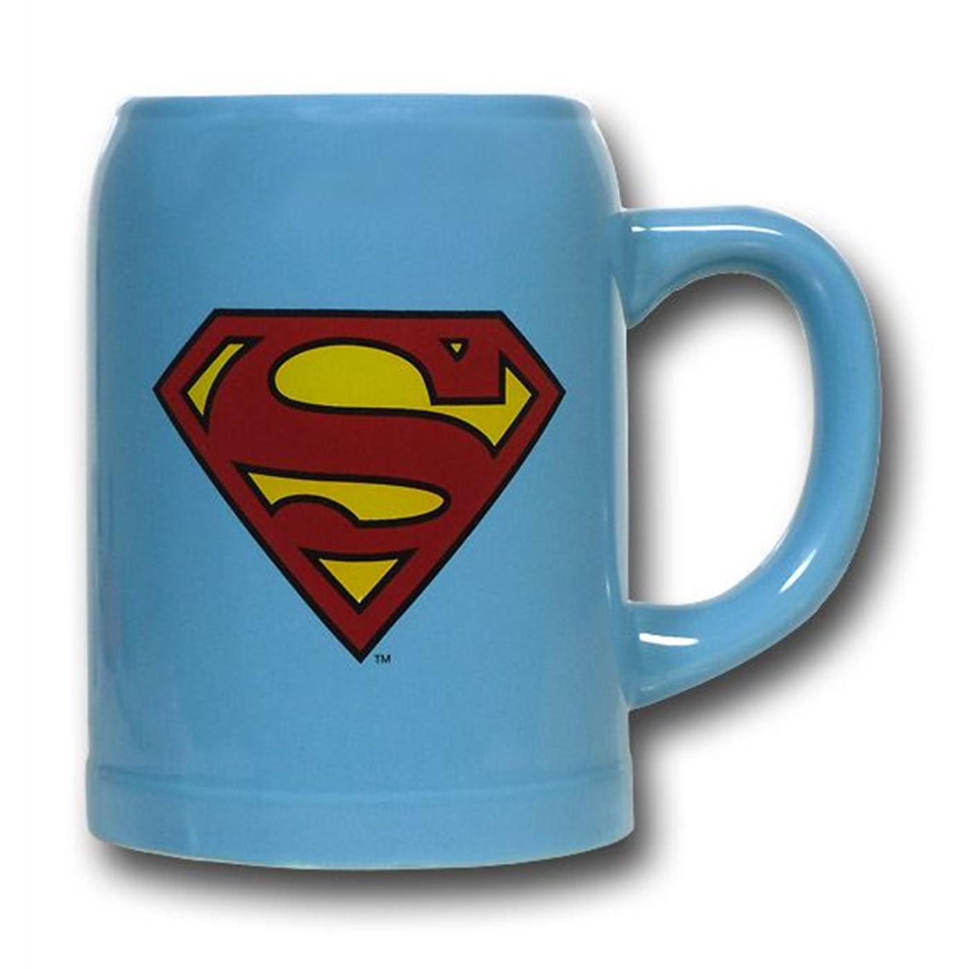 Superman Symbol 22oz Ceramic Stein