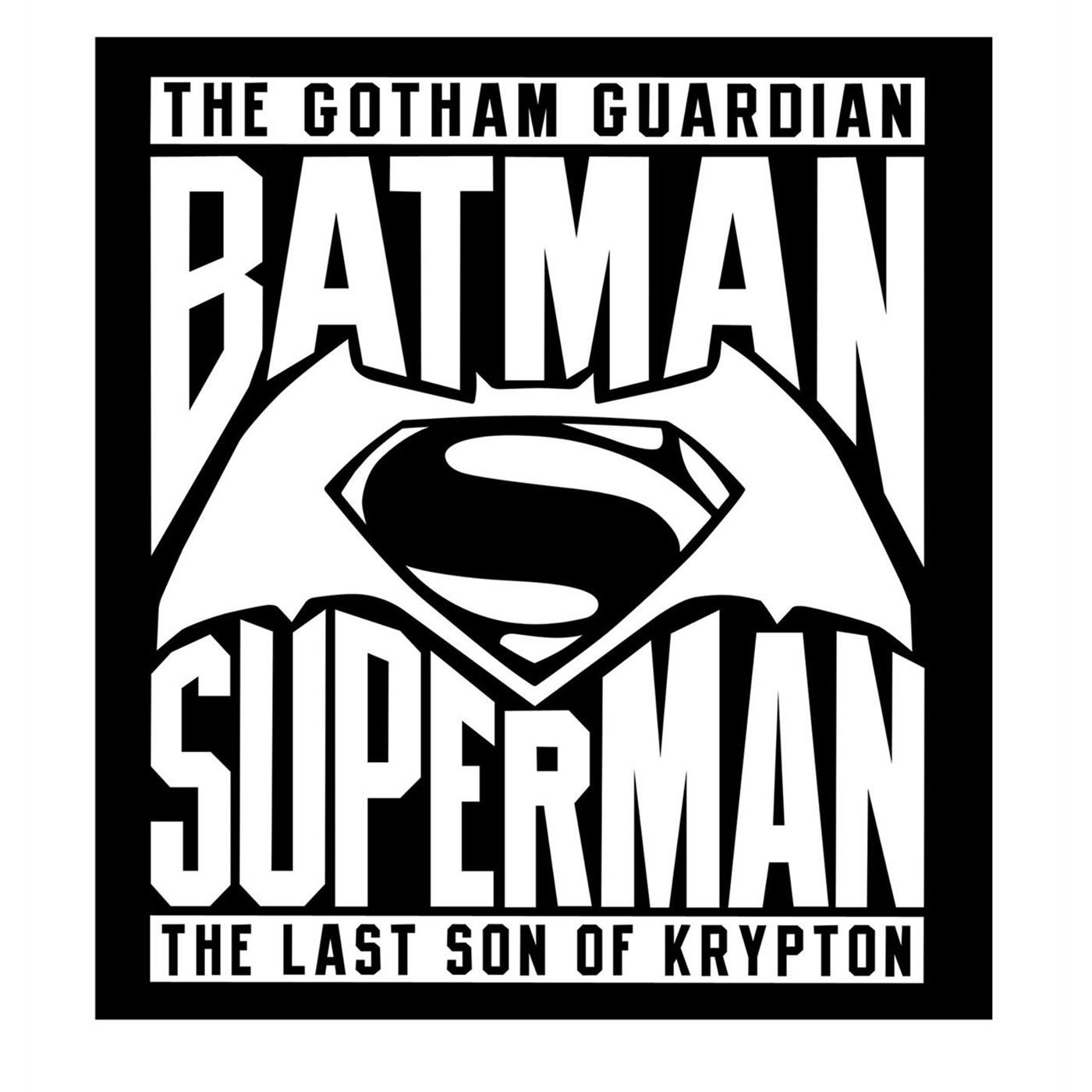 Batman Vs Superman Logo White Sticker