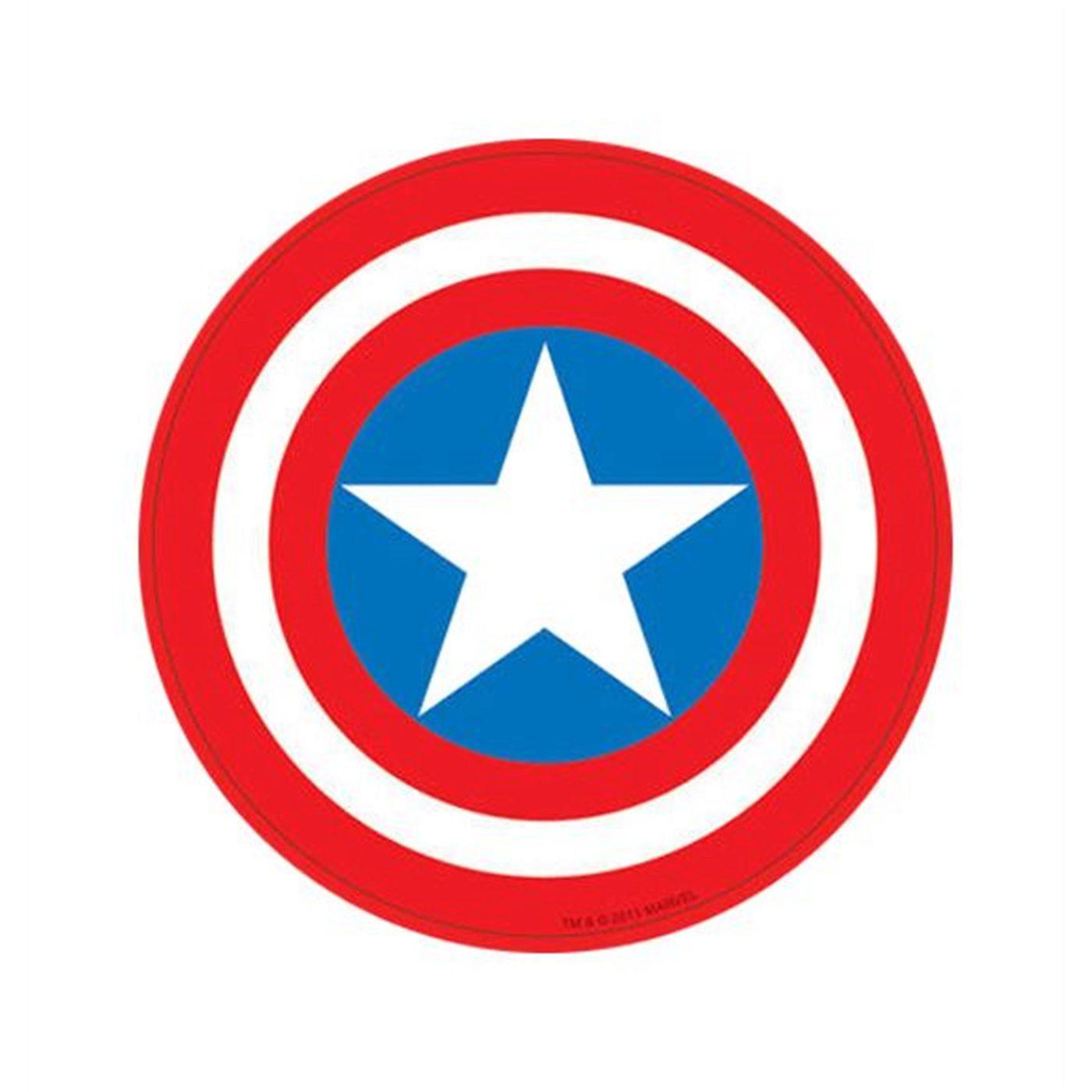 Captain America Shield Symbol Sticker