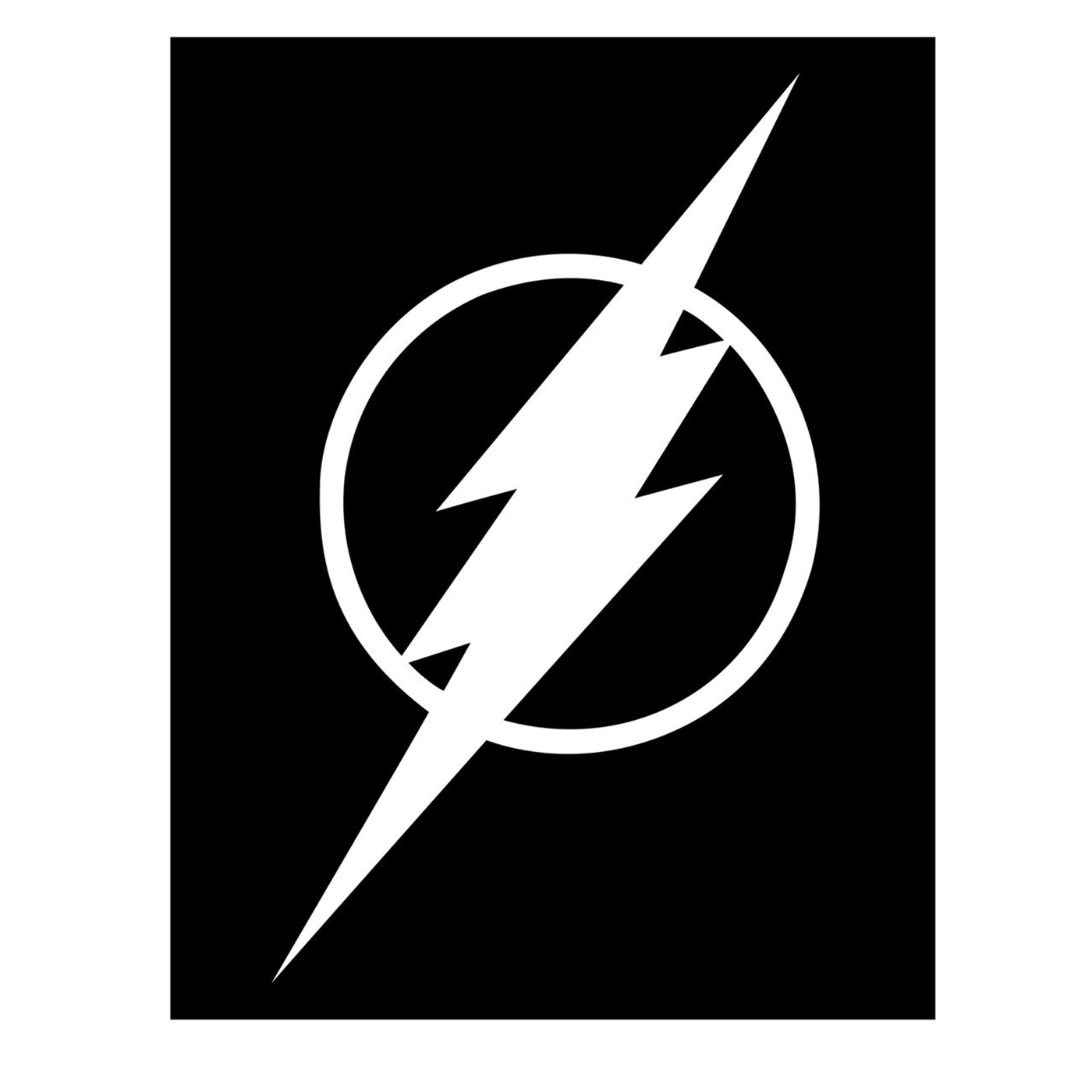 Flash Symbol White Sticker