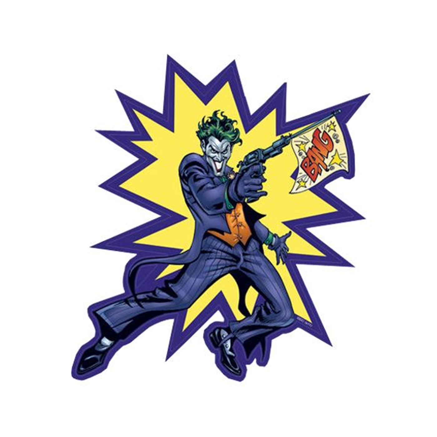 Joker Bang Y'er Dead Sticker