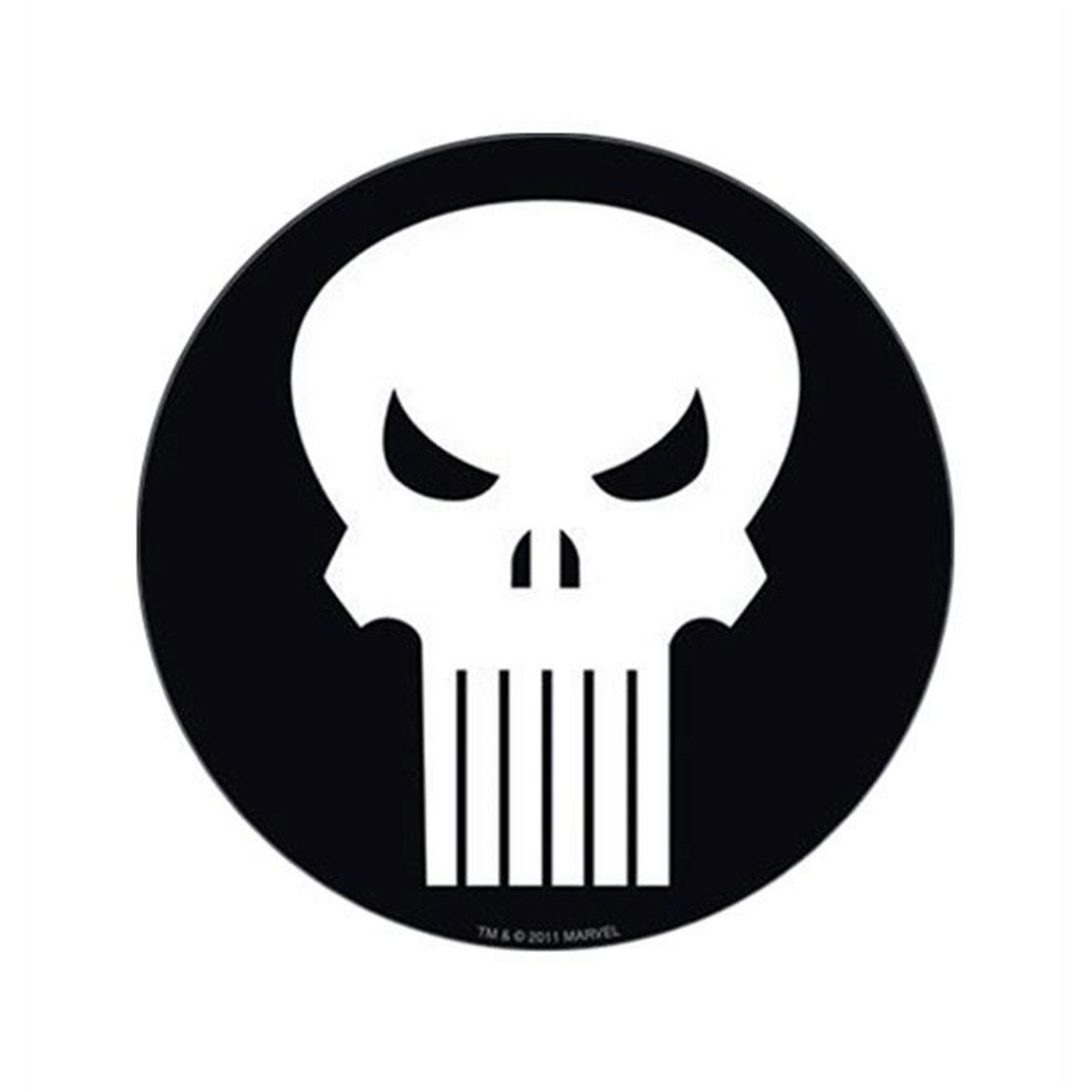 Punisher White Skull Symbol Sticker
