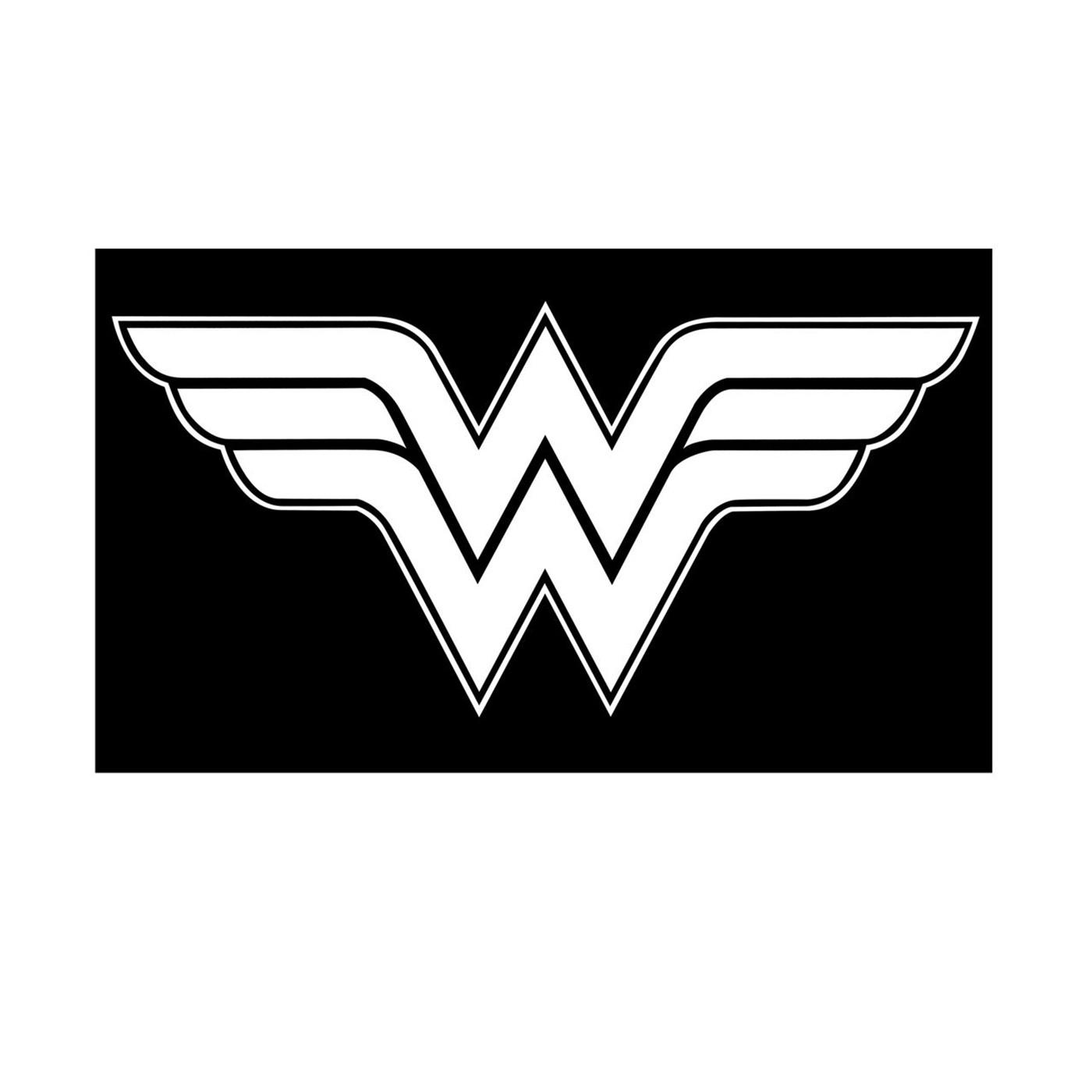 Wonder Woman Symbol White Sticker