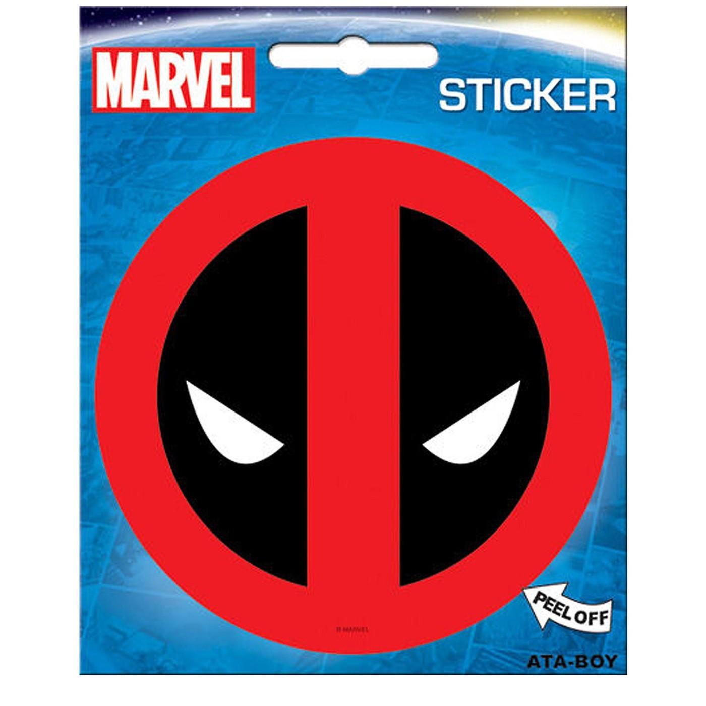 Deadpool Eyes Symbol Sticker