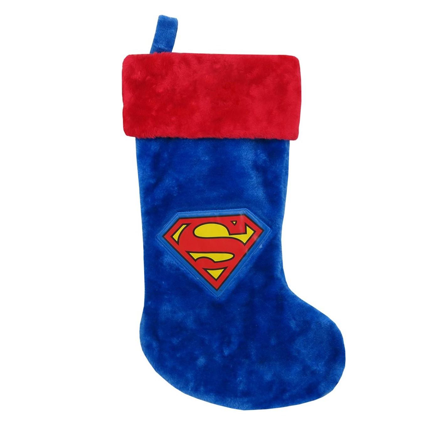 Superman Symbol Christmas Stocking
