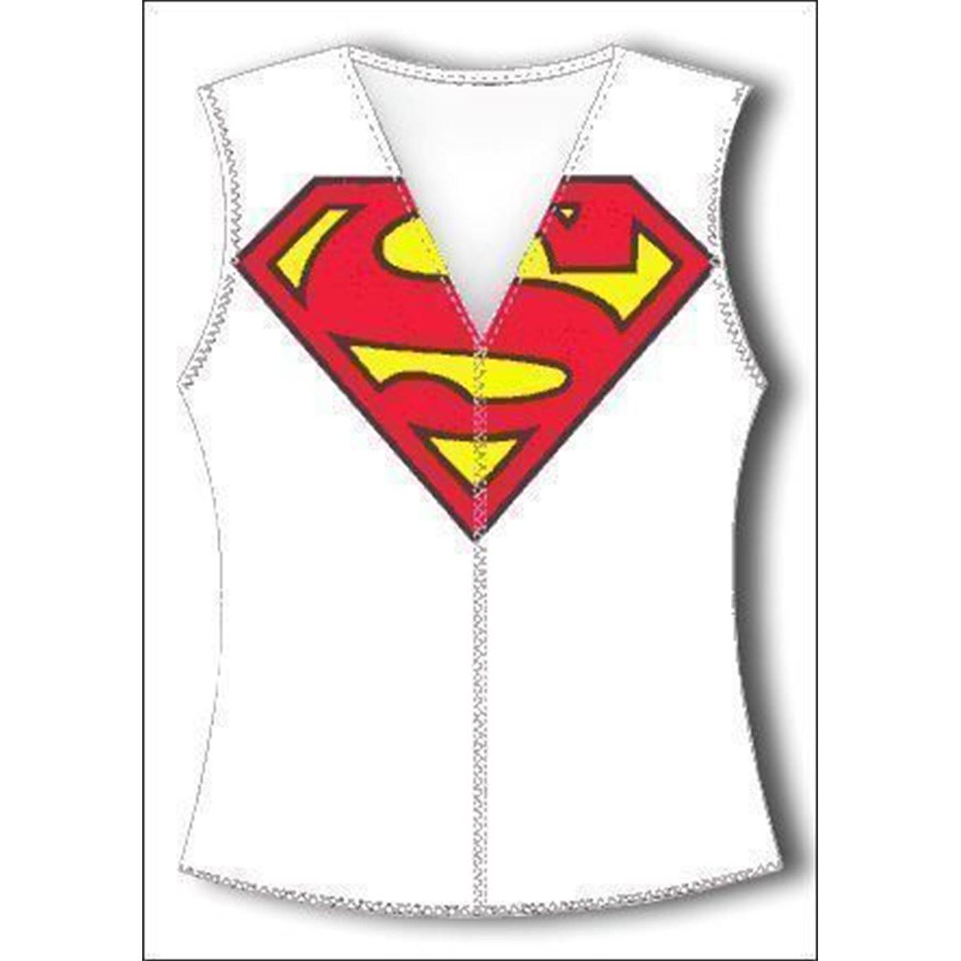 Supergirl V Neck Tank Top