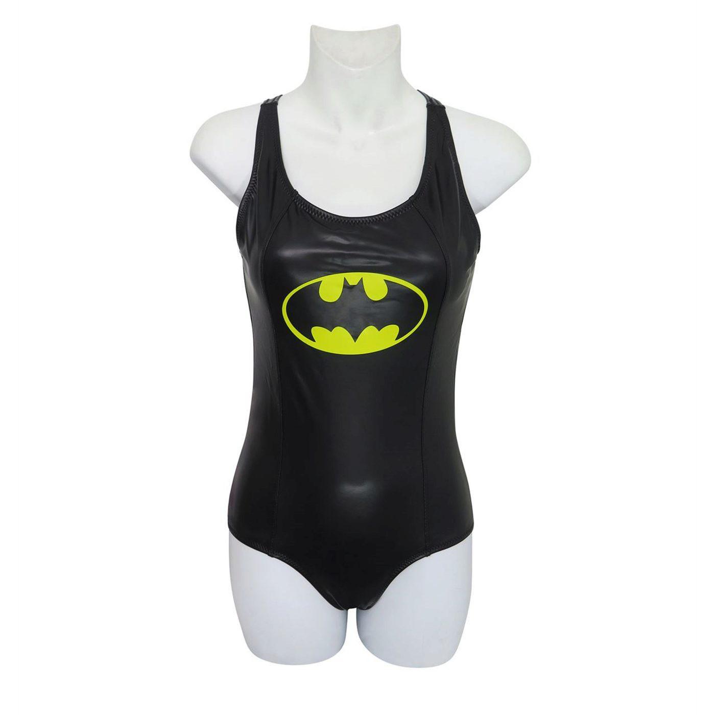 Batman Racerback Keyhole One-Piece Swimsuit