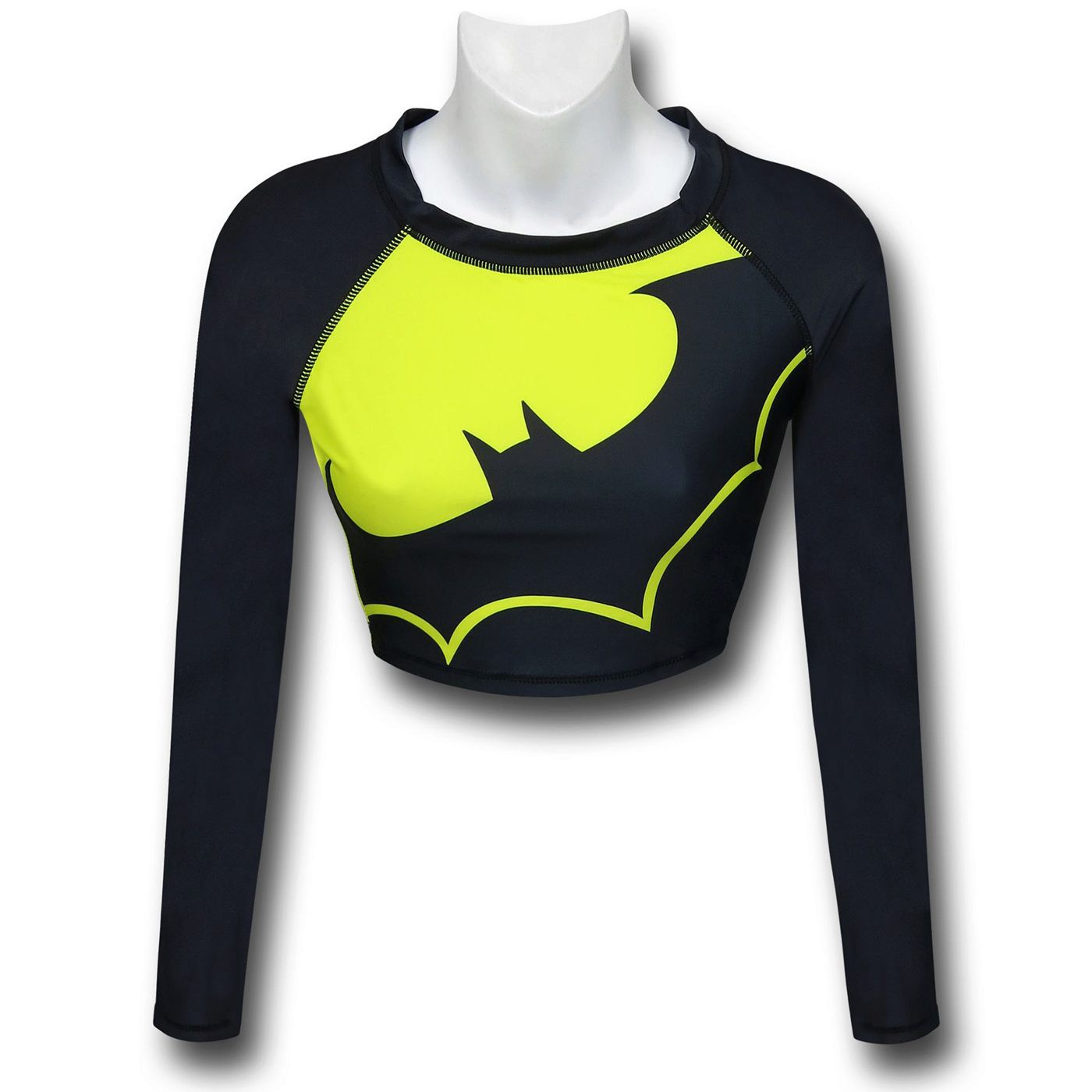 Batman Crop Top Rash Guard