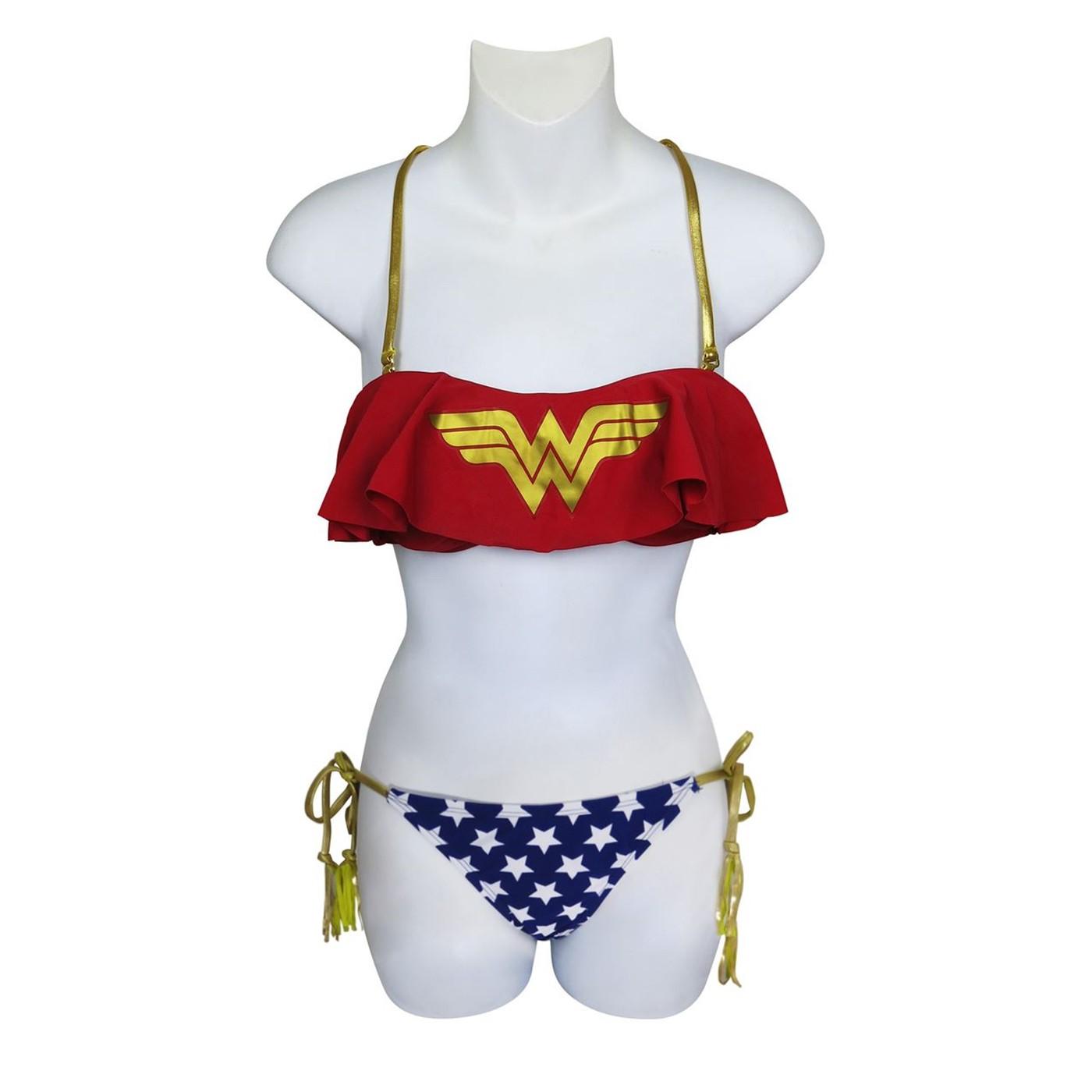 Wonder Woman Cami Ruffle Bikini