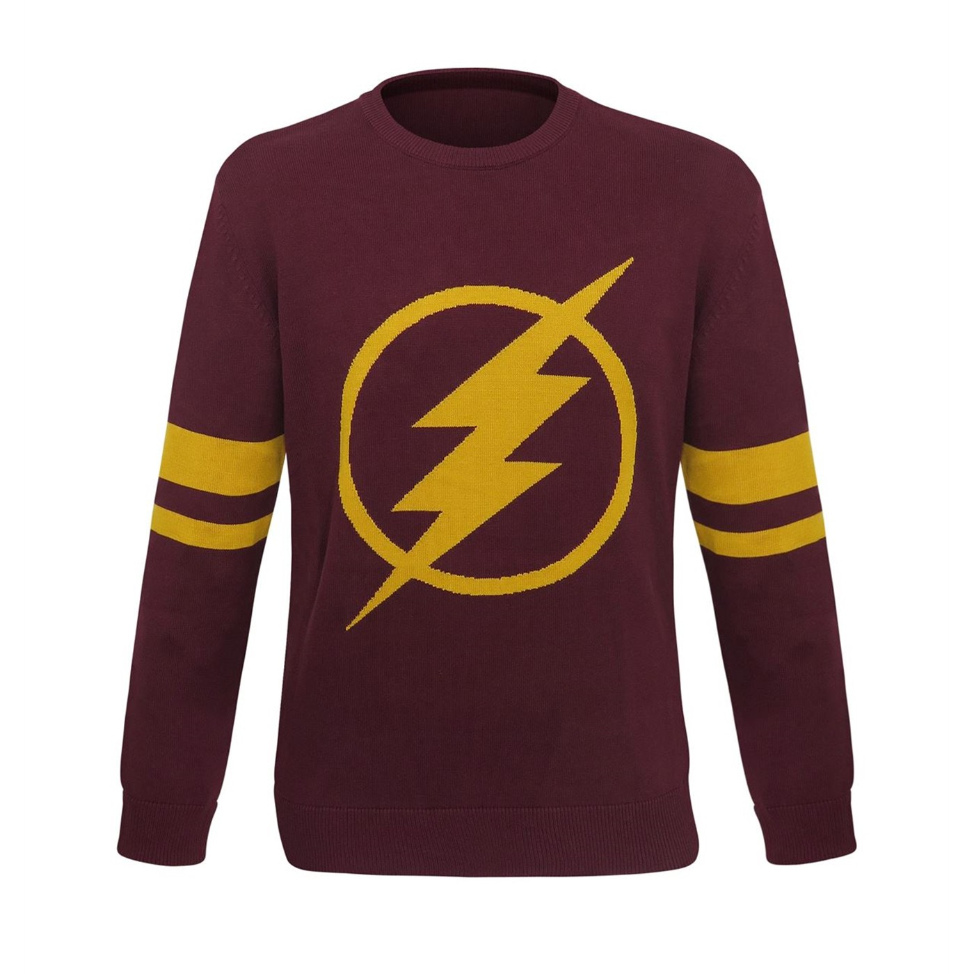 Flash TV Series Logo Men's Jacquard Sweater