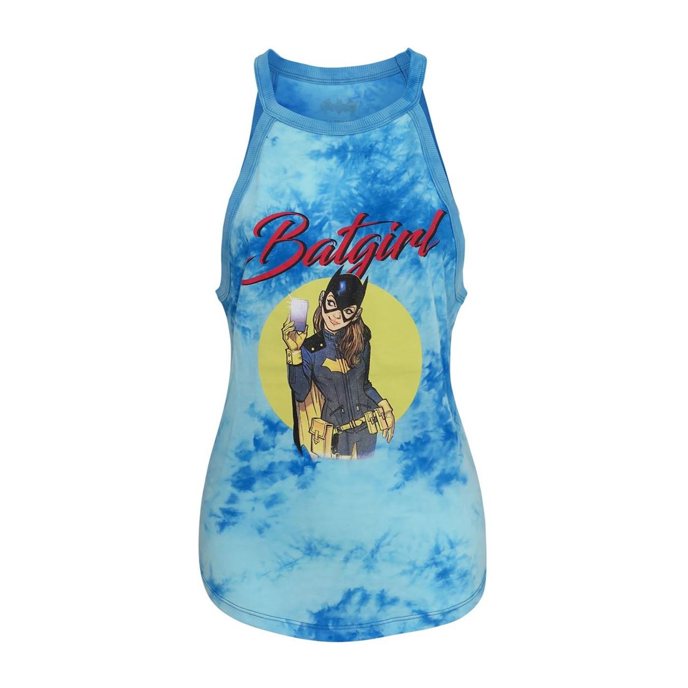 Batgirl Women's Tie Dye Halter Tank Top