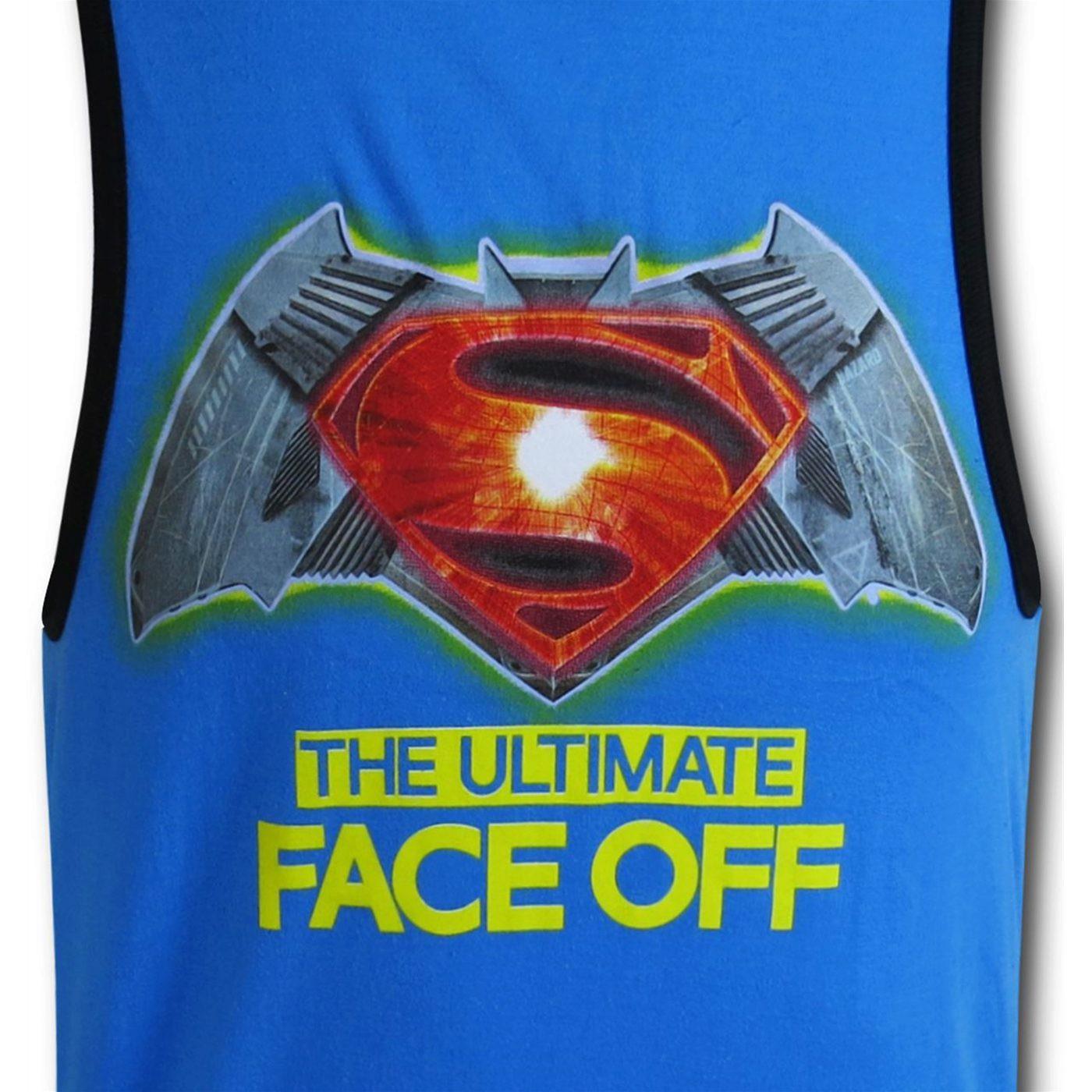 Batman Vs Superman Face Off Kids Tank Top