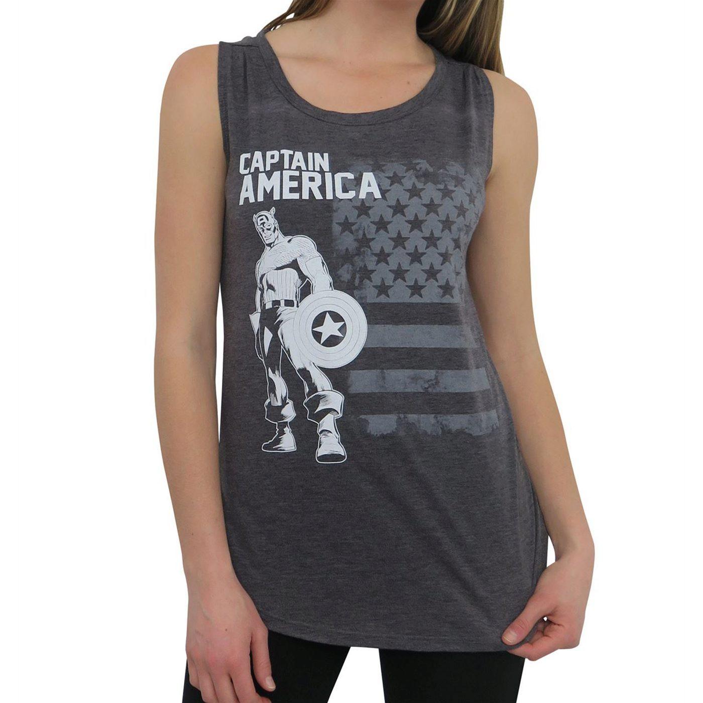 Captain America Old Glory Women's Tank Top