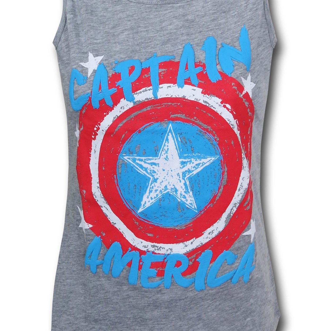 Captain America Shield Girls Youth Tank Top