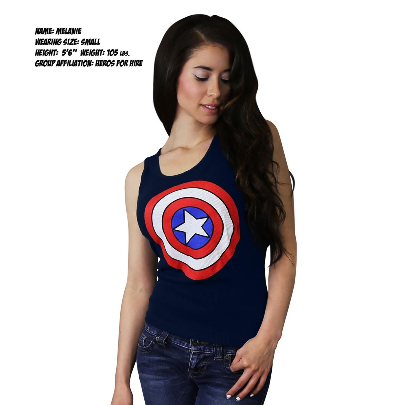 Captain America Shield Women's Ribbed Tank Top