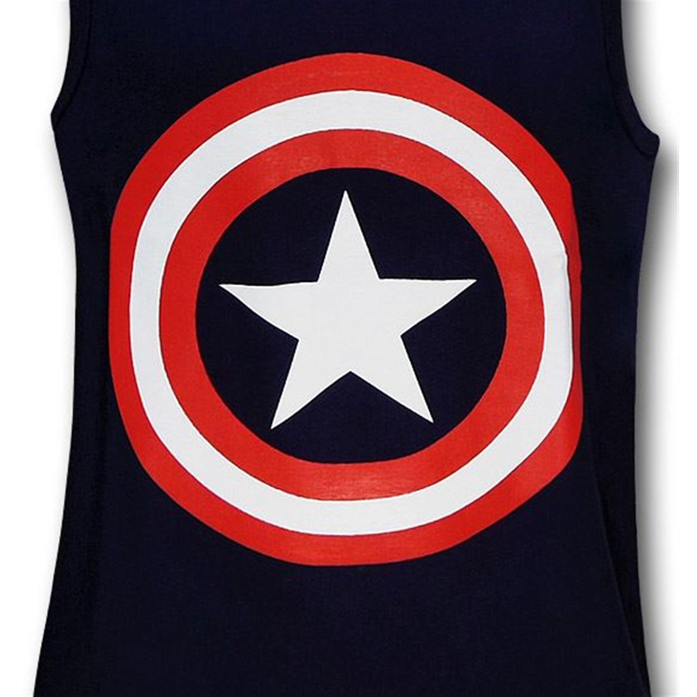 Captain America Shield Navy Tank Top