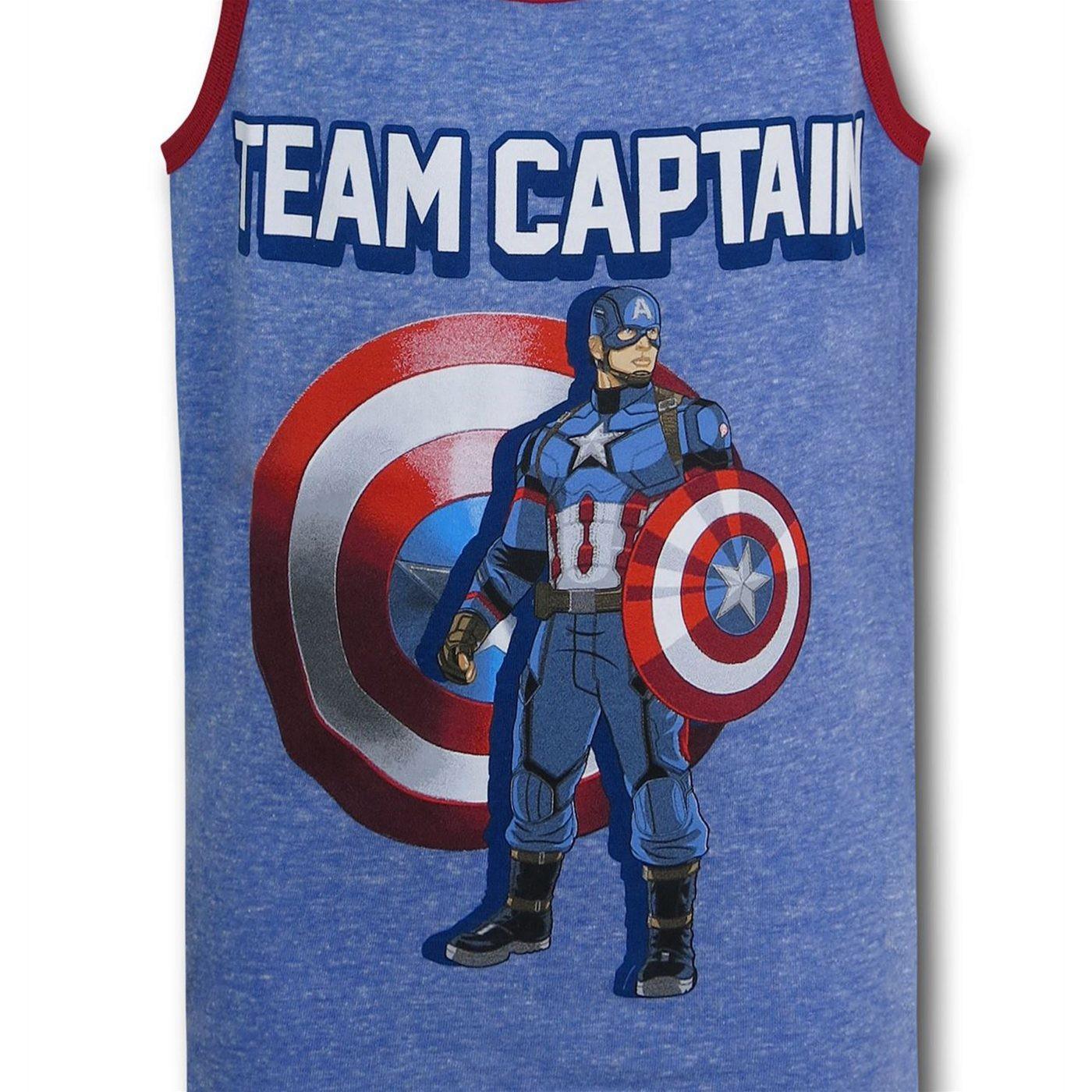 Captain America Civil War Team Captain Kids Tank Top