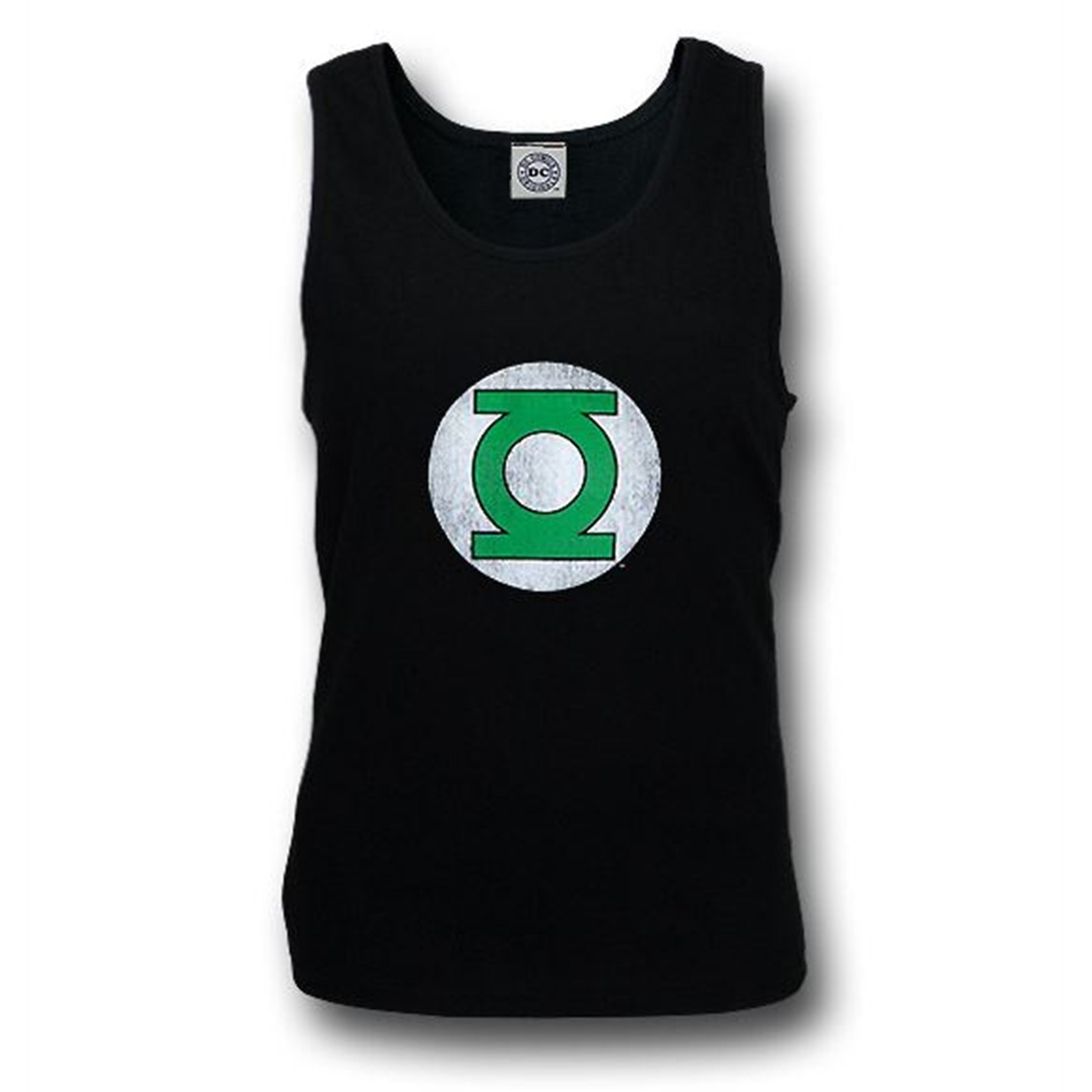Green Lantern Distressed Black Tank Top
