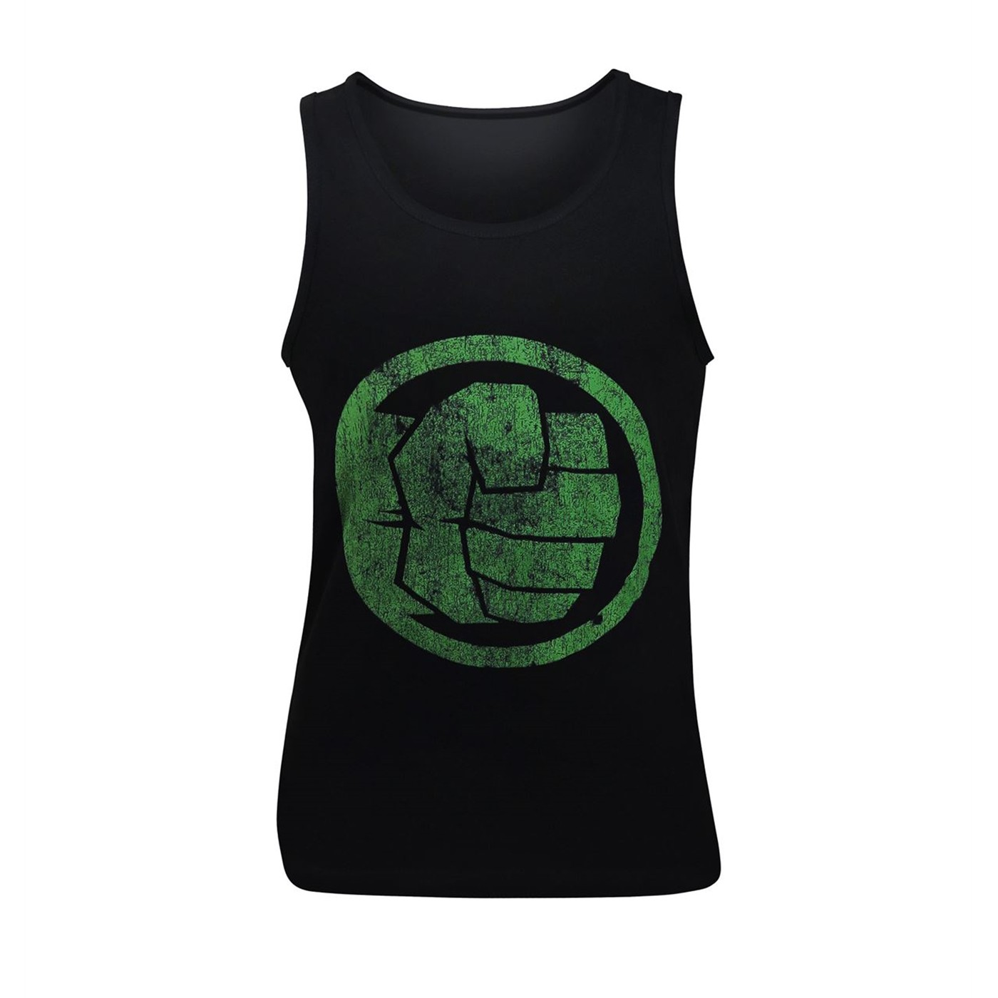 Hulk Fist Bump on Black Men's Tank Top