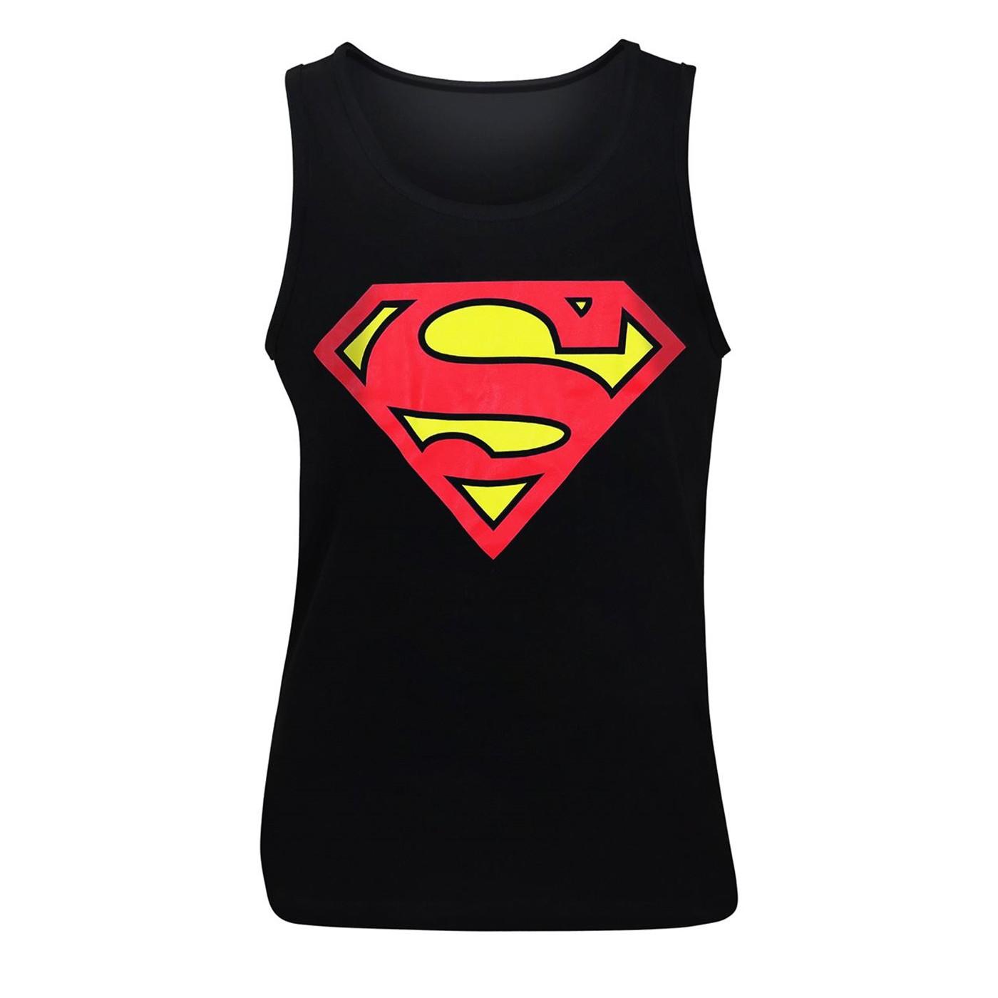Superman Symbol Black Men's Tank Top