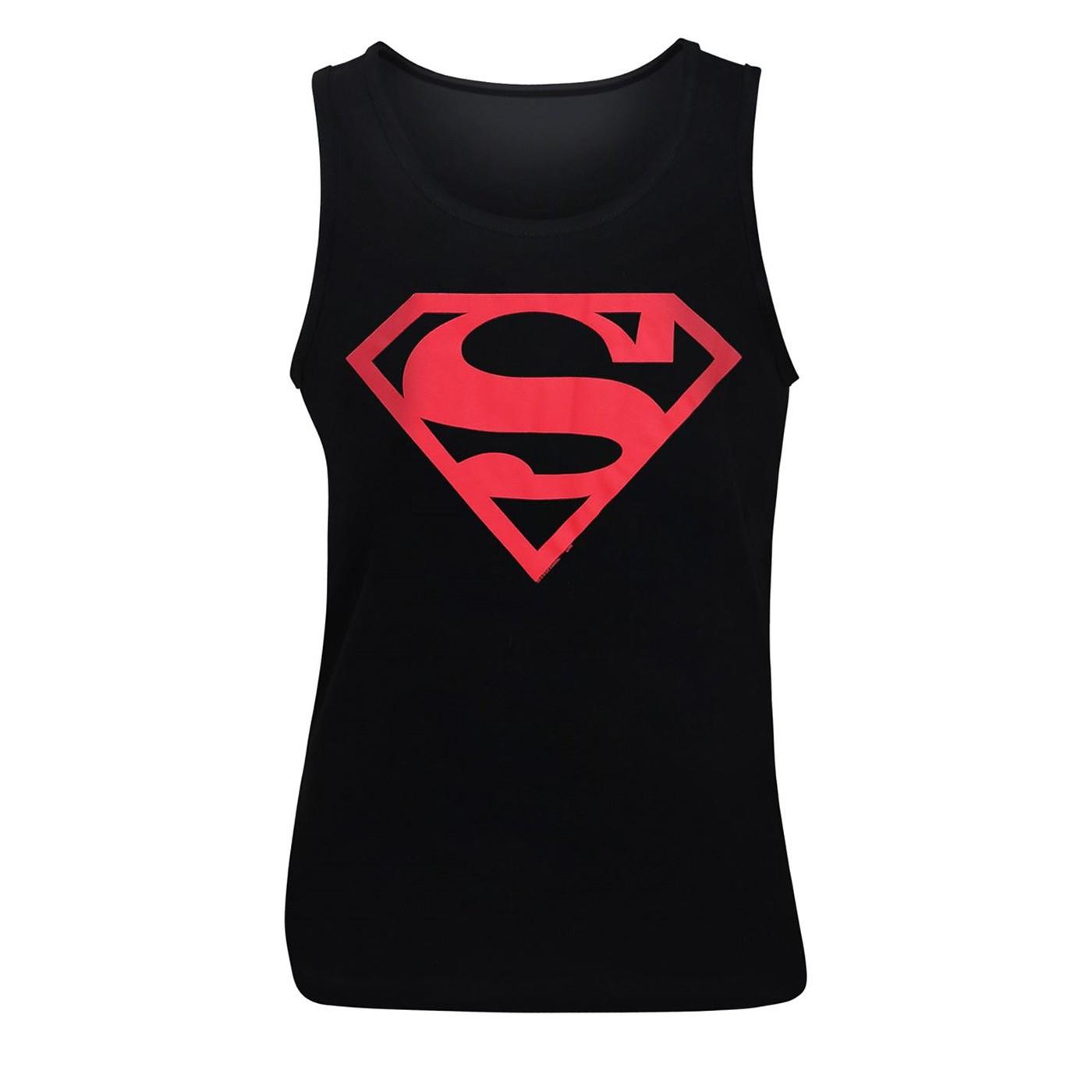 Superboy Red Symbol Tank Top
