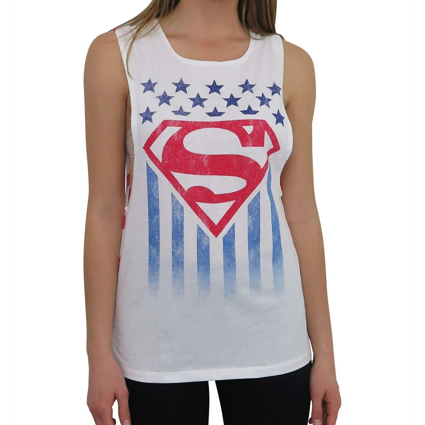 Superman Women's Open Back Tank Top