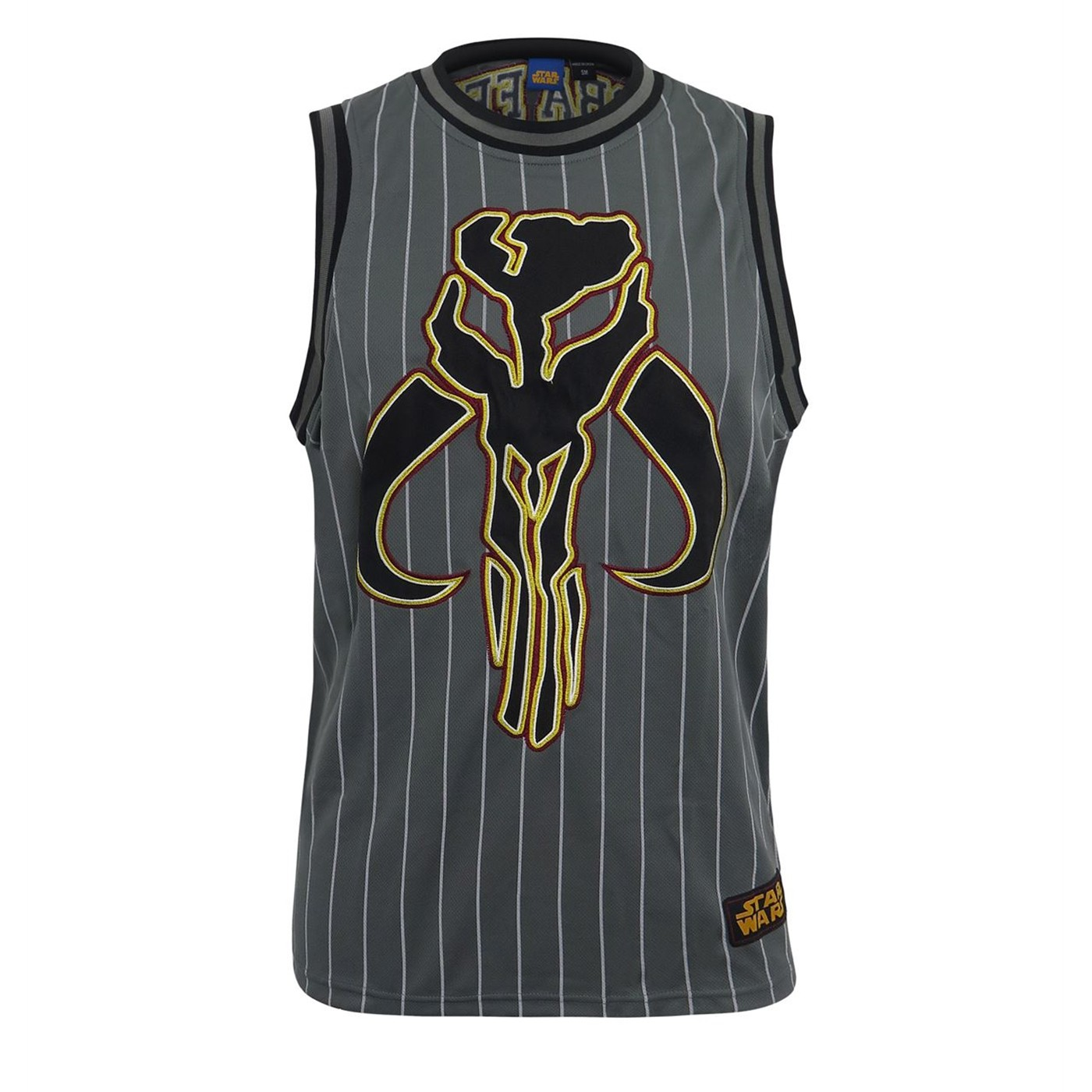 Star Wars Fett Embroidered Basketball Jersey