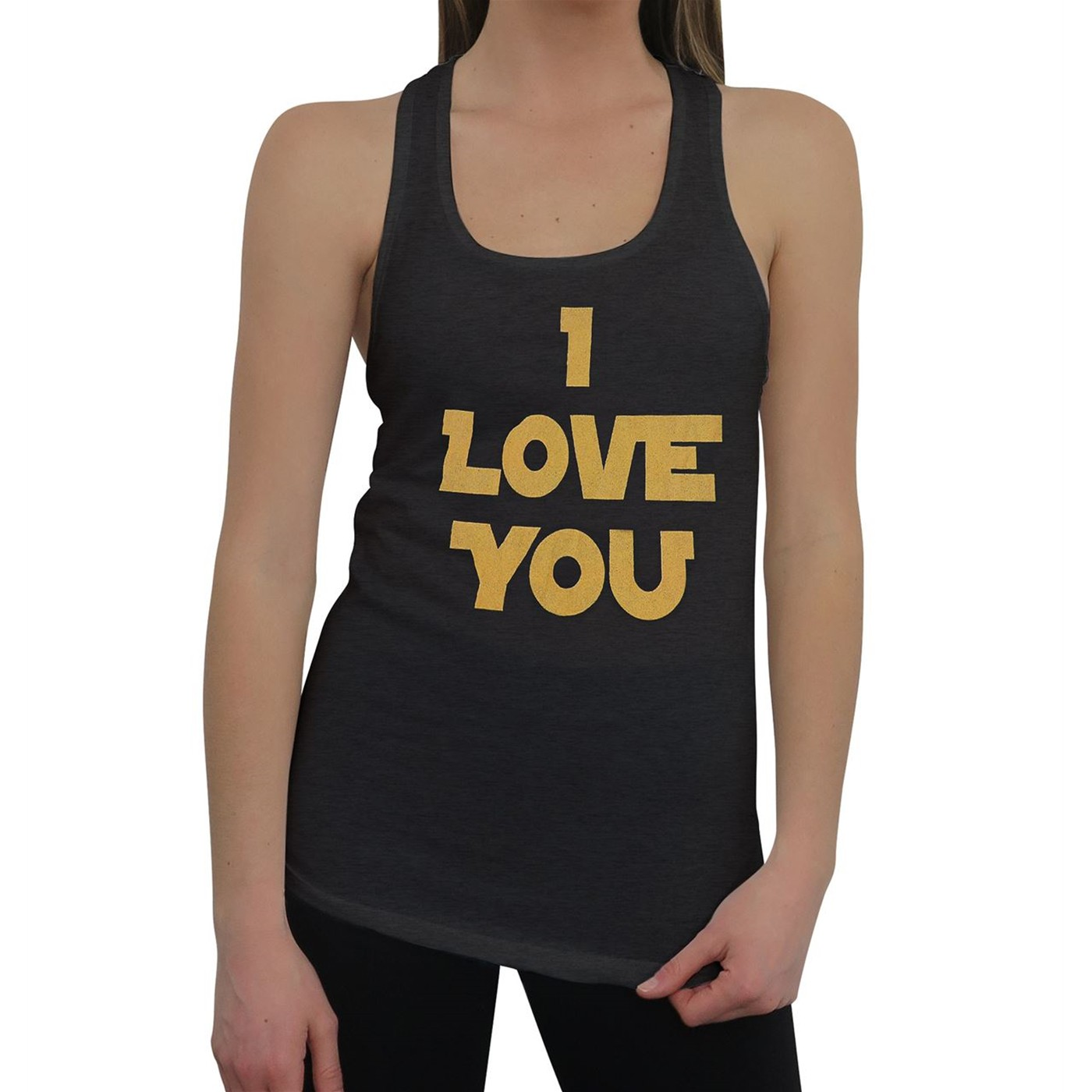 Star Wars I Love You Women's Racer Back Tank Top