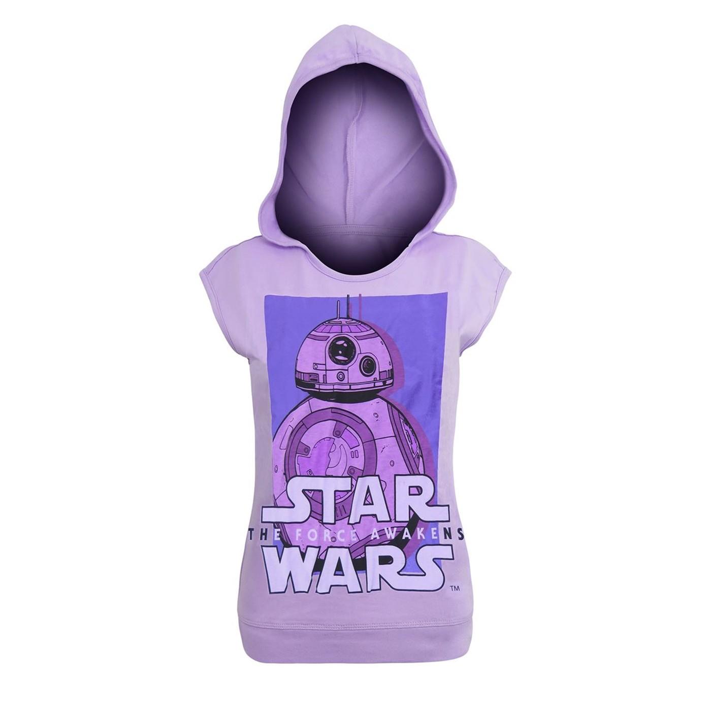 Star Wars Force Awakens BB8 Hooded Girls Tank Top