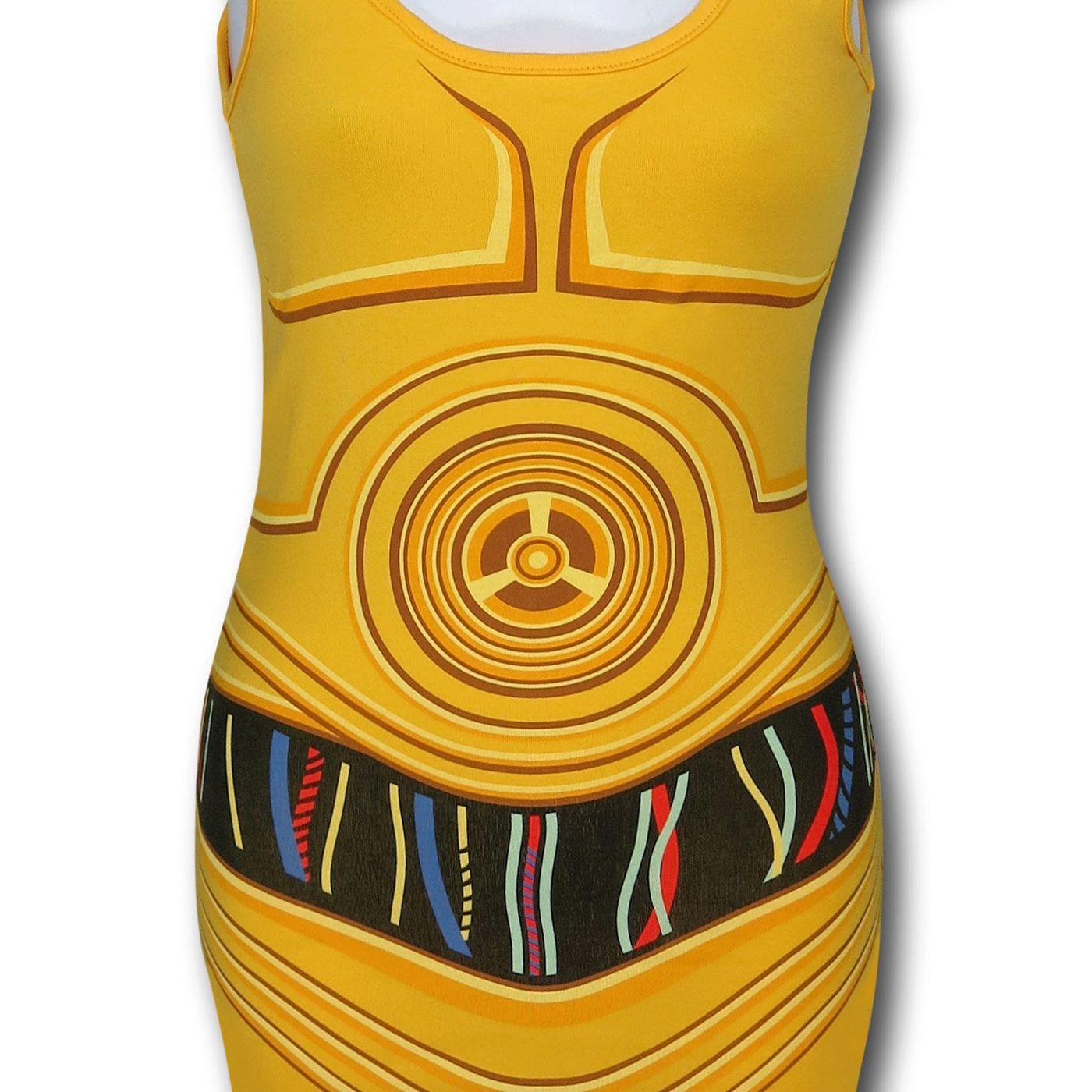 Star Wars Women's C3PO Costume Tank Top