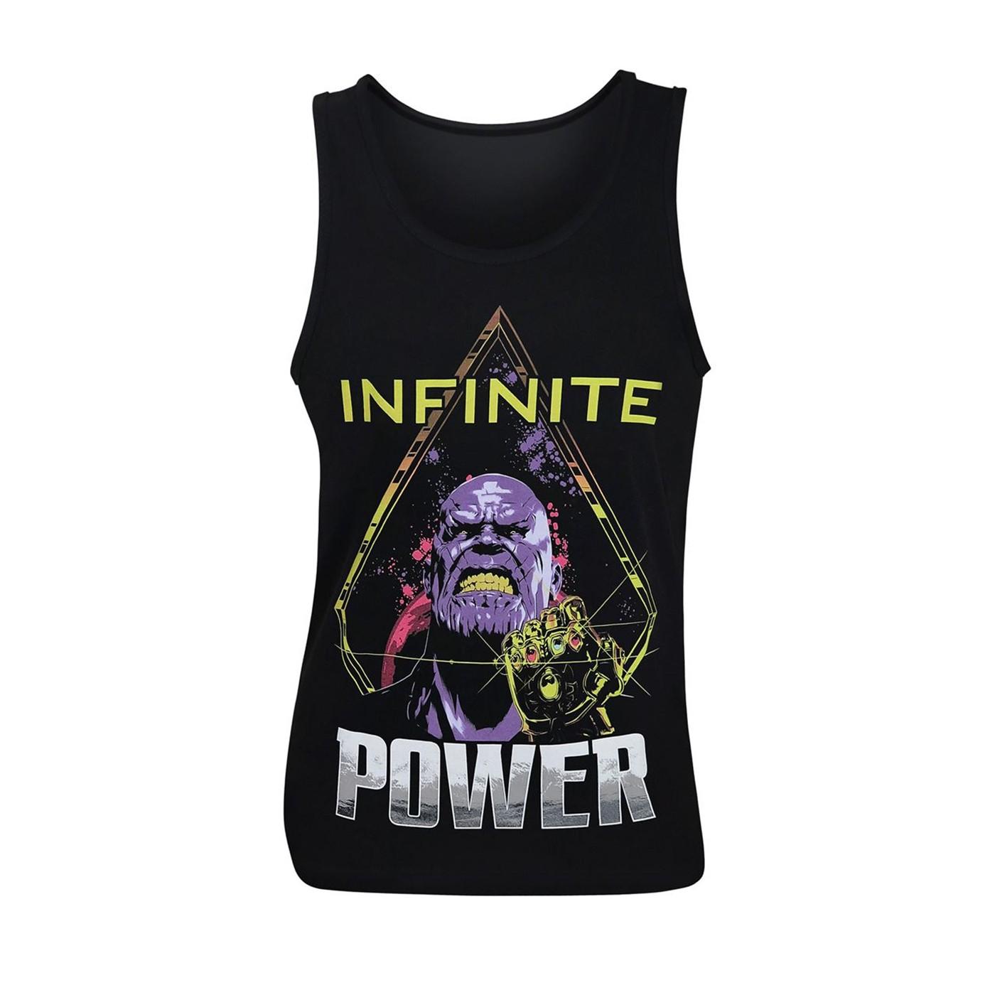 Avengers Infinity War Thanos Power Up Men's Tank Top