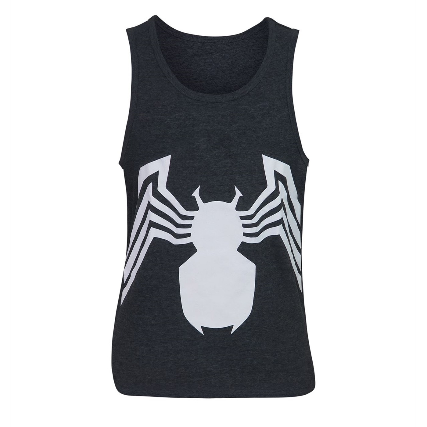 Venom Symbol Heather Charcoal Tank Top