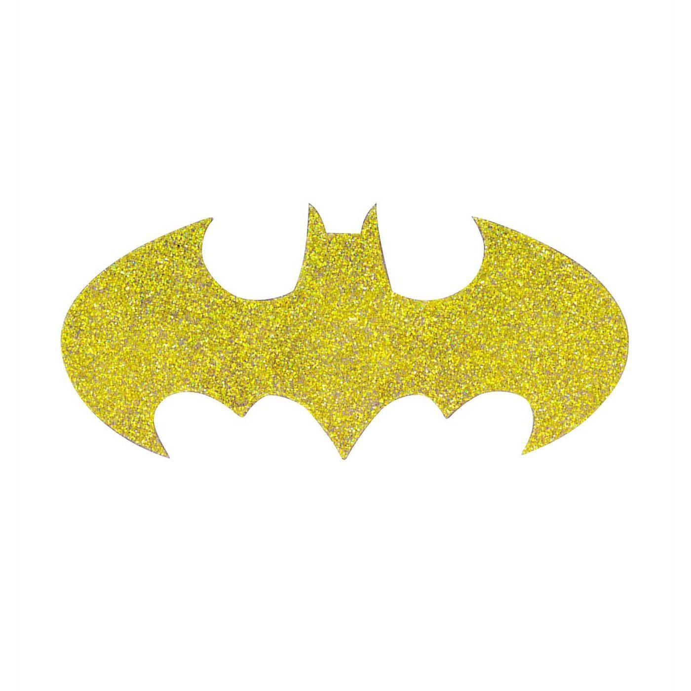 Batgirl Symbol Glitter Tattoo