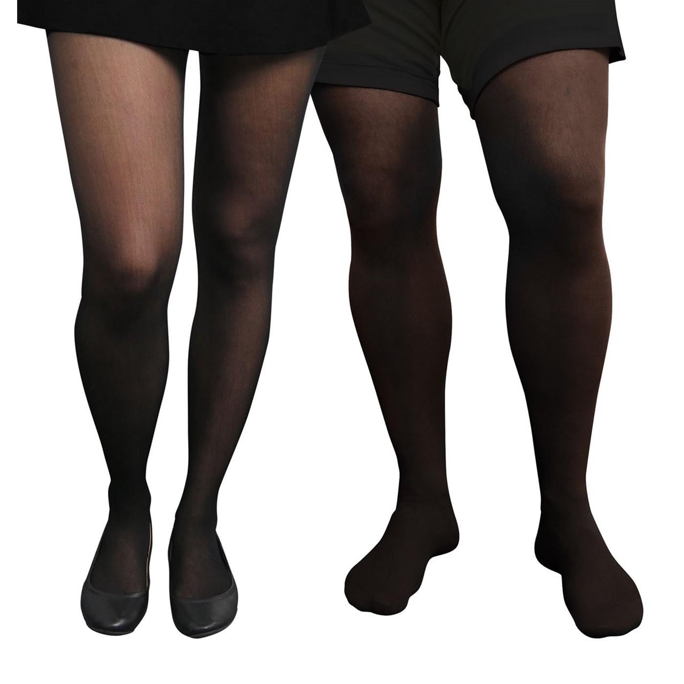 Adult Unisex Costume Black Tights