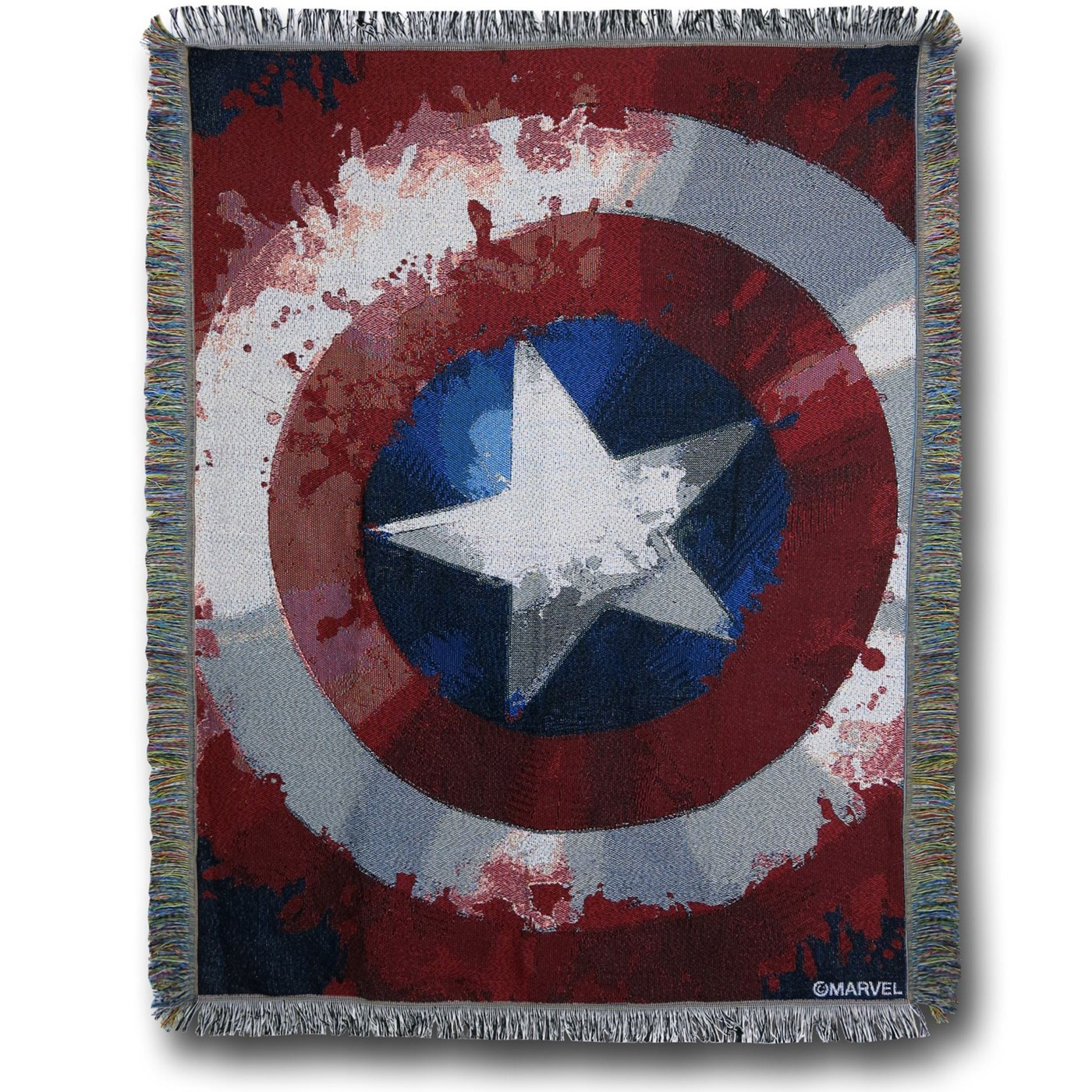 Captain America Shield Throw Blanket