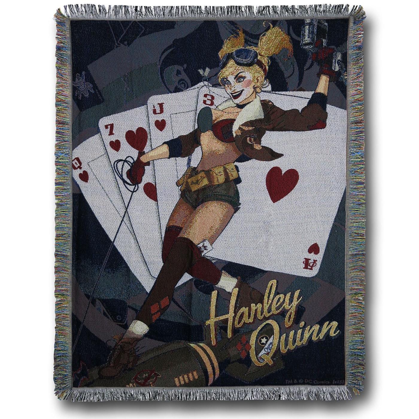Harley Quinn Bombshells Throw Blanket