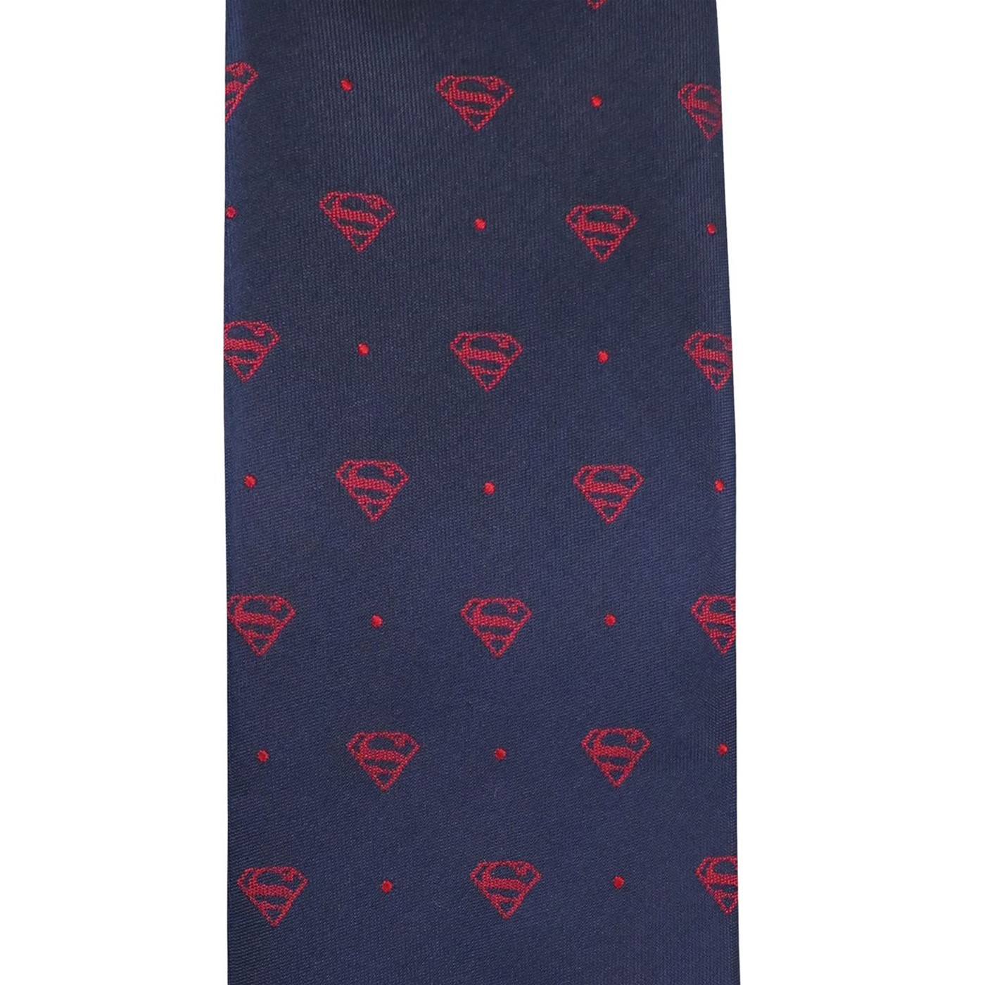 Superman Symbol Dot Tie