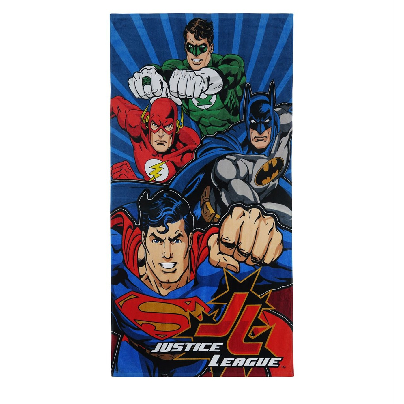 Justice League the Power of 4 Beach Towel