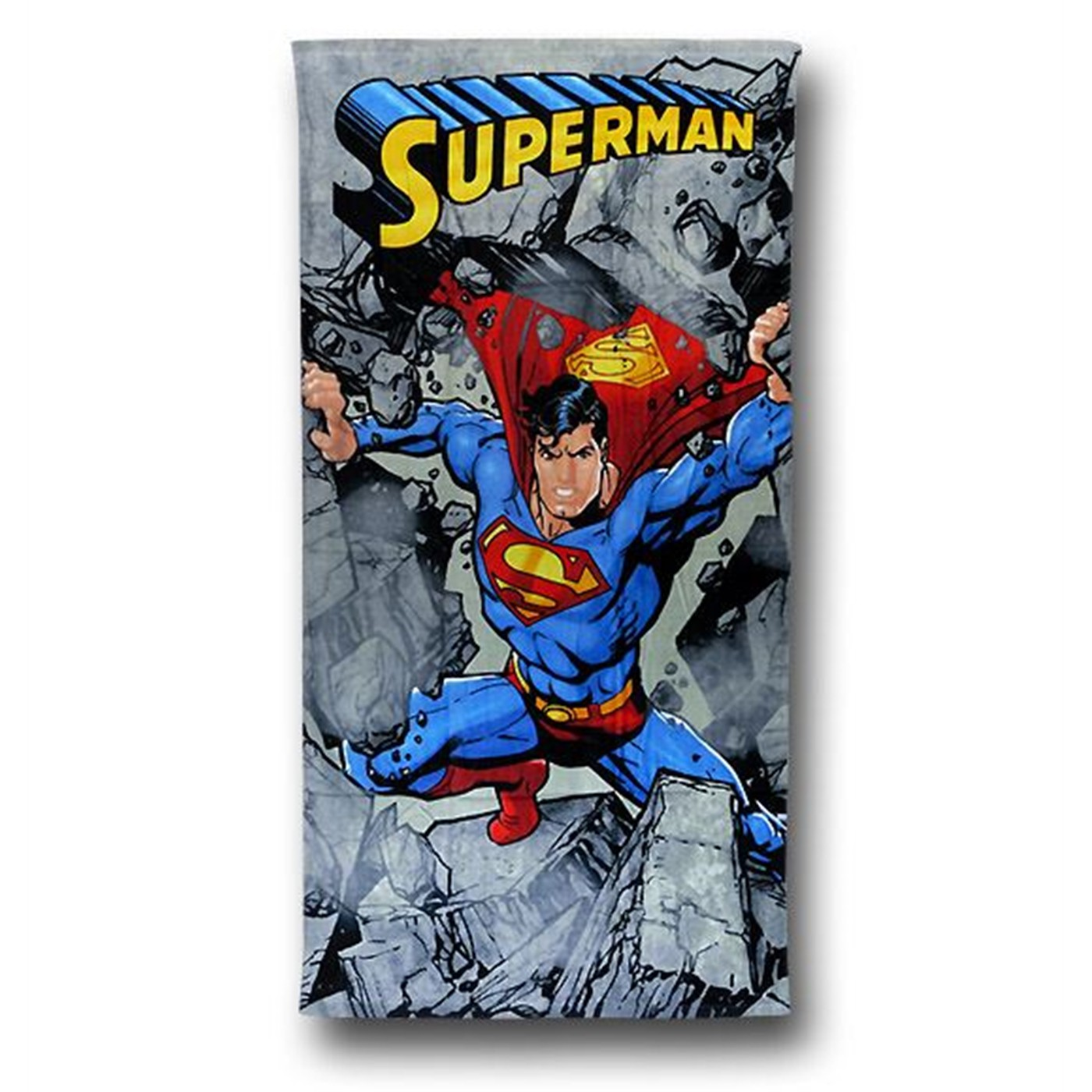 Superman Rocks Beach Towel