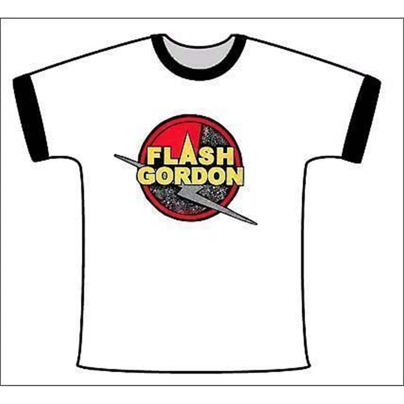 Flash Gordon: Symbol White with Black Ringer tshirt