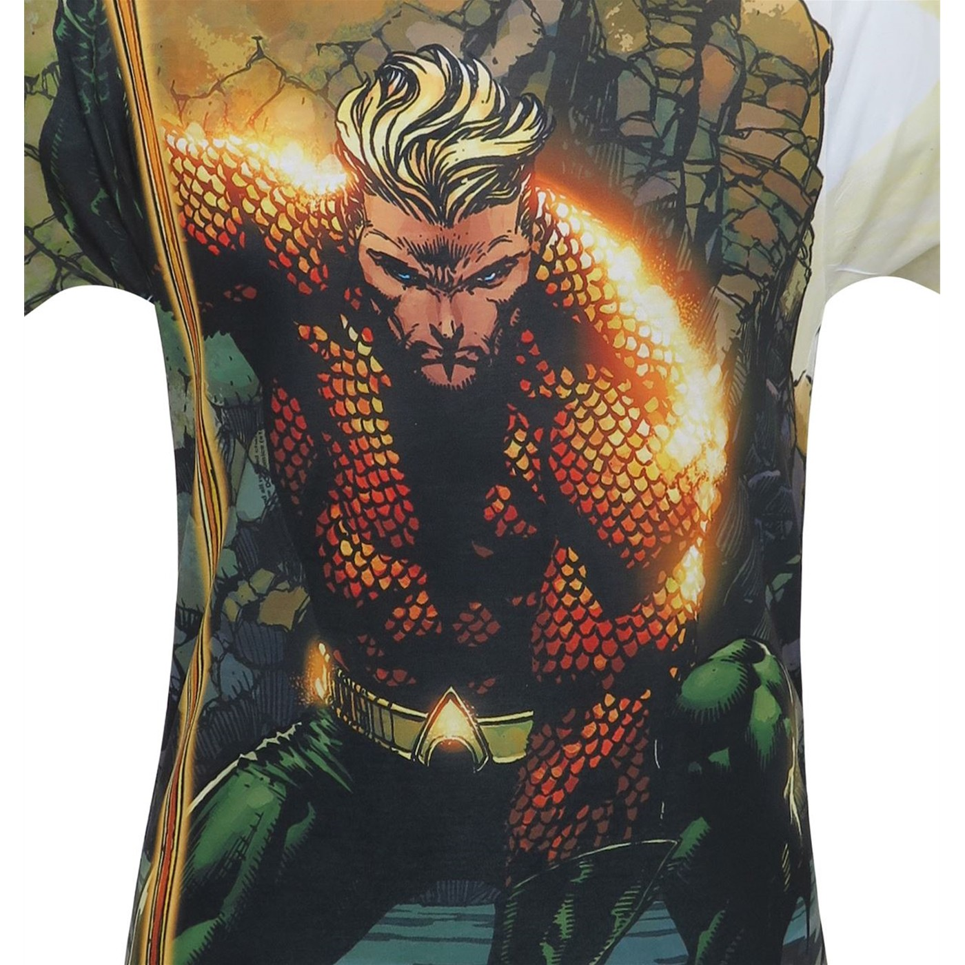 Aquaman Good Vs Evil Men's Sublimated T-Shirt