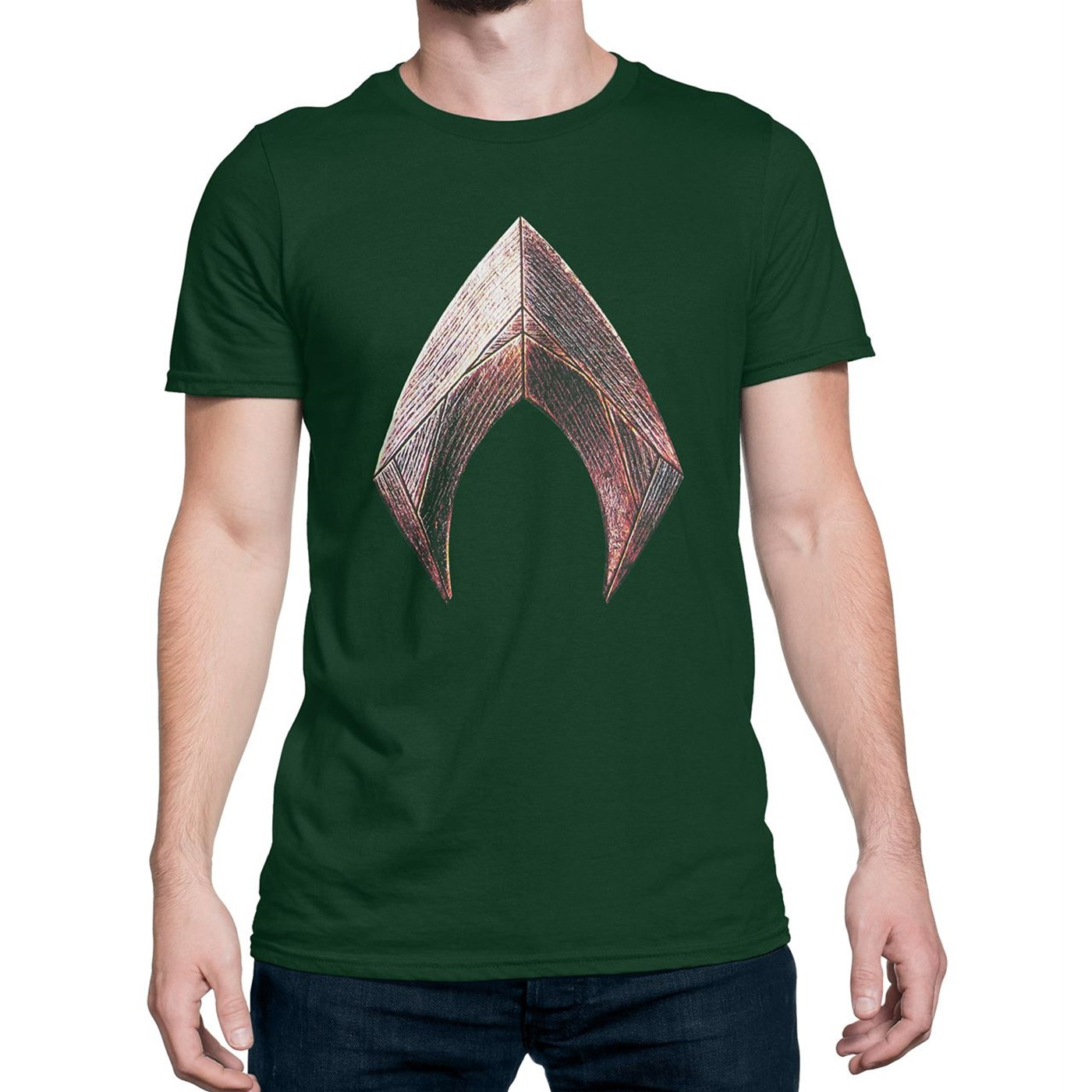 Justice League Movie Aquaman Symbol Men's T-Shirt