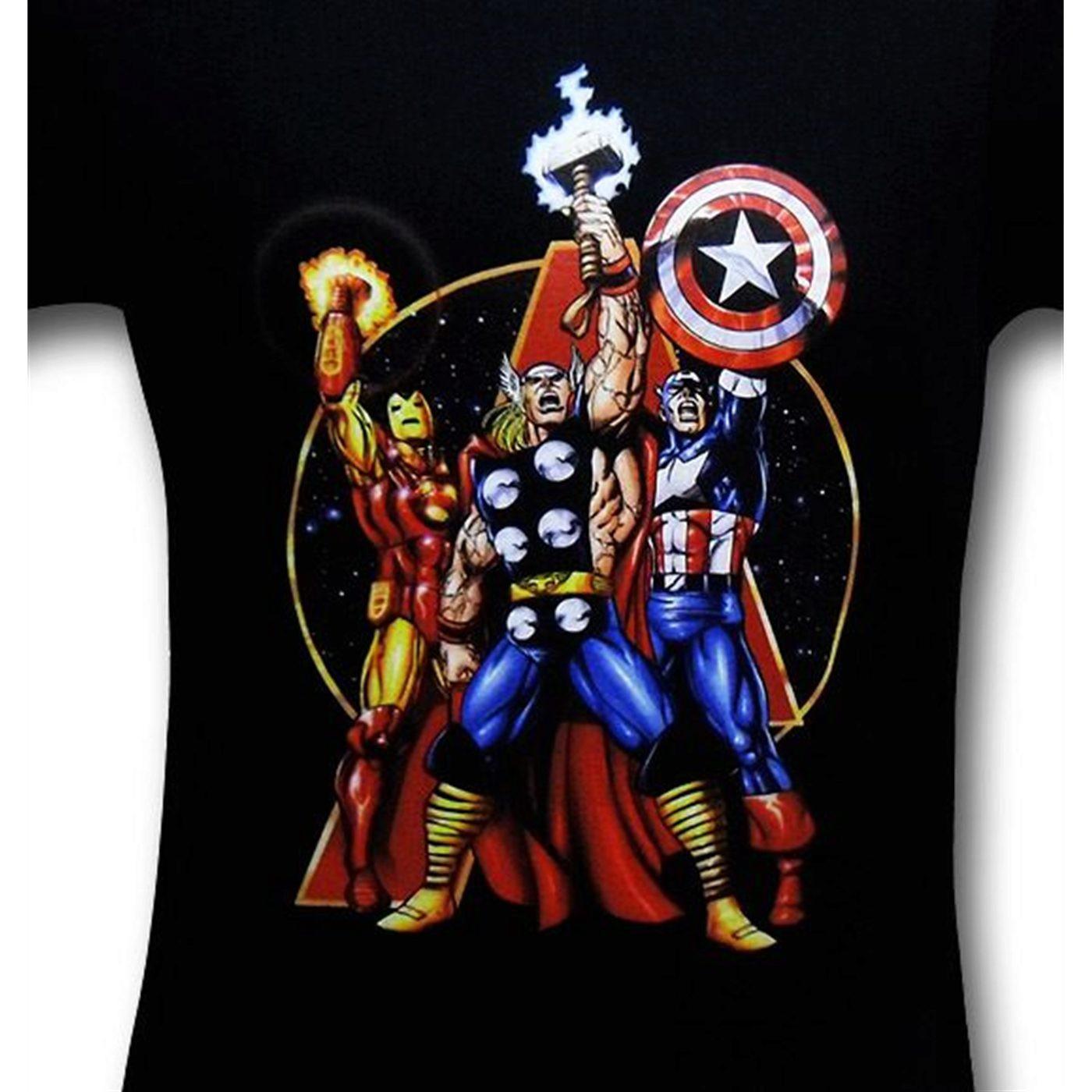 Avengers Arms Raised 30 Single T-Shirt
