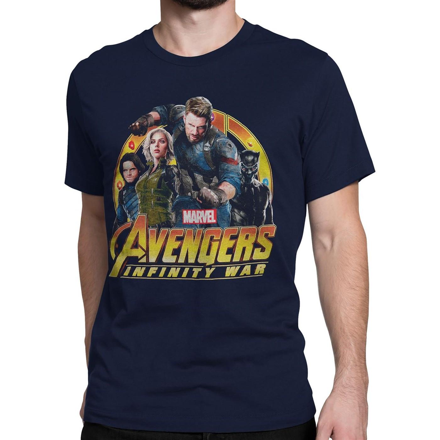 Infinity War Captain America Group Men's T-Shirt
