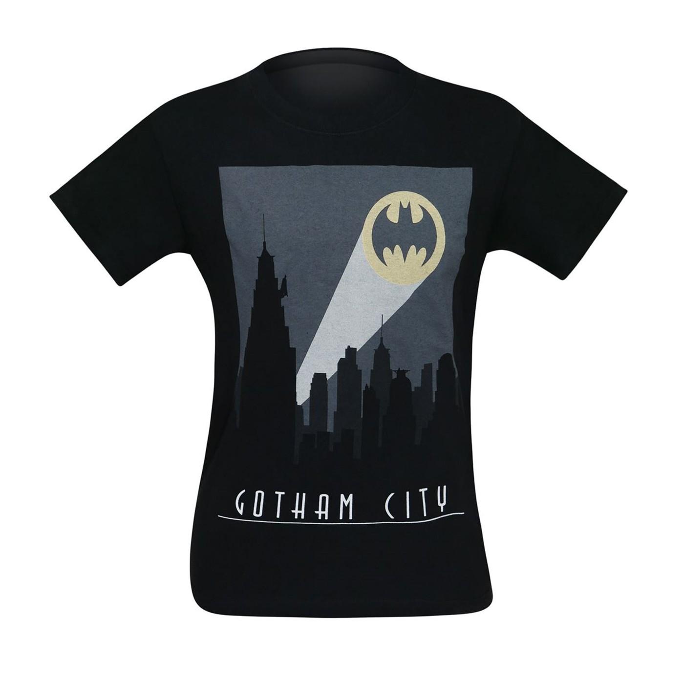 Batman Art Deco Gotham City Signal Men's T-Shirt