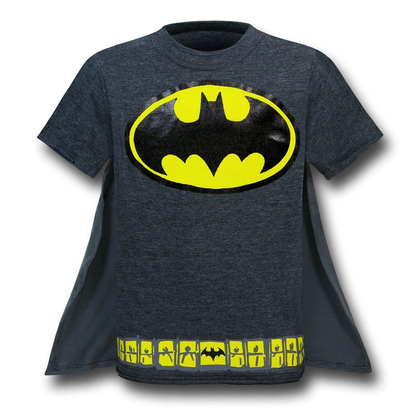 Batman Kids Costume T-Shirt w/Grey Cape