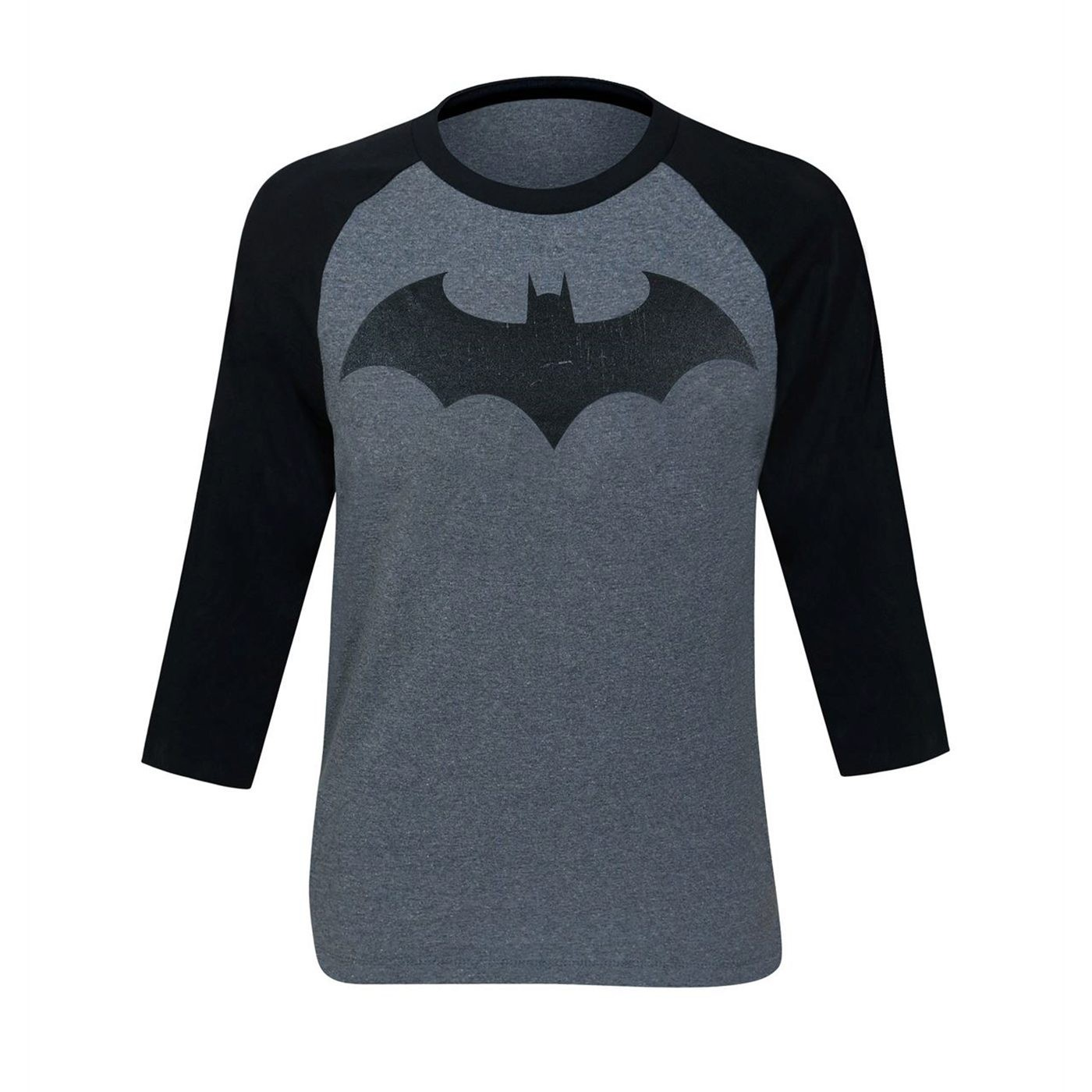 Batman Hush Distressed Symbol Baseball T-Shirt