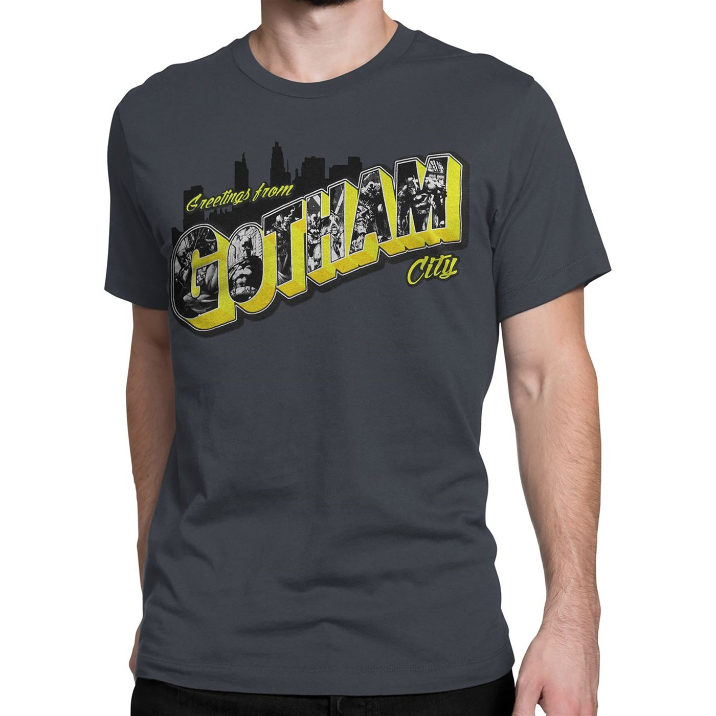 Batman Greetings from Gotham City Men's T-Shirt