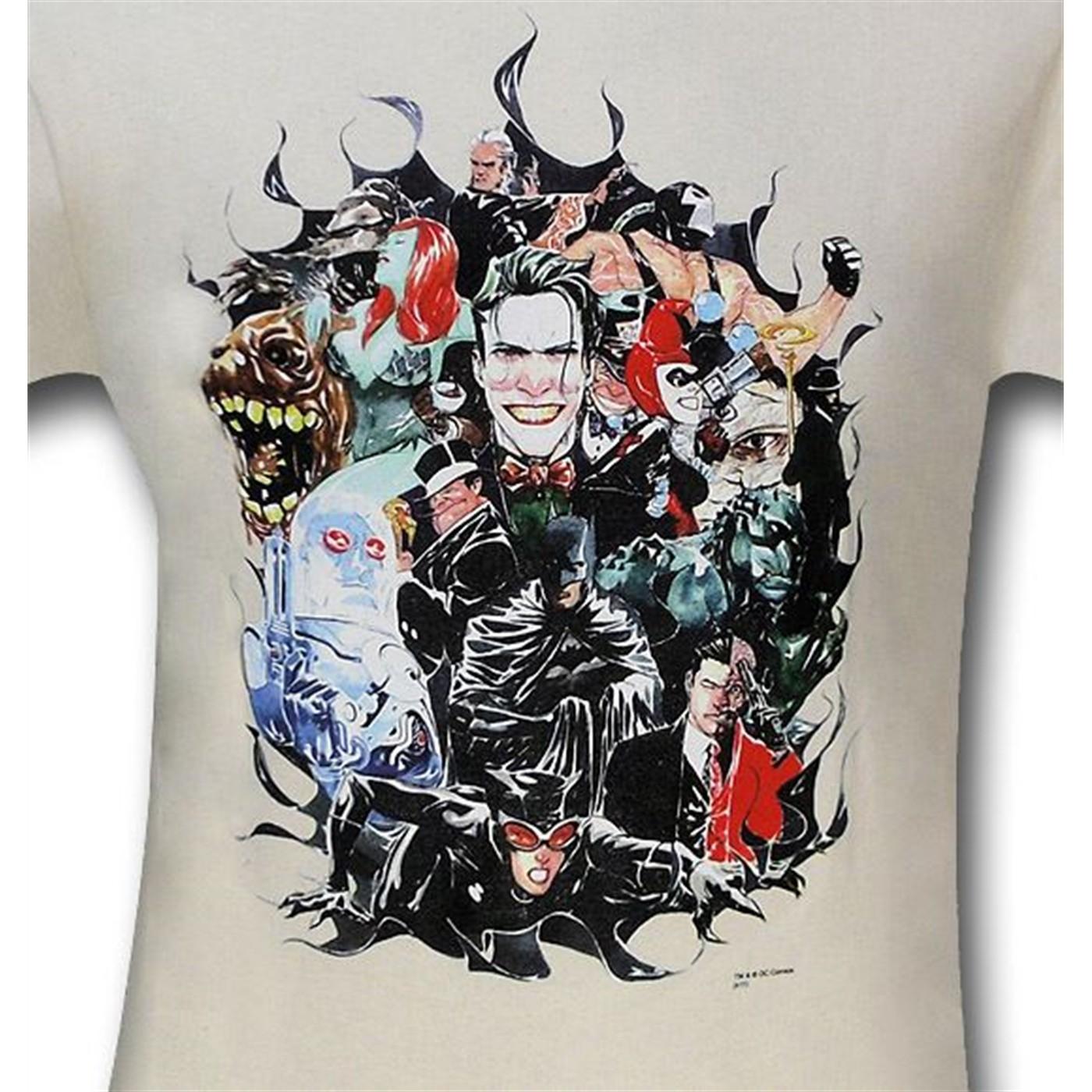Batman Happy Family by Dustin Nguyen T-Shirt